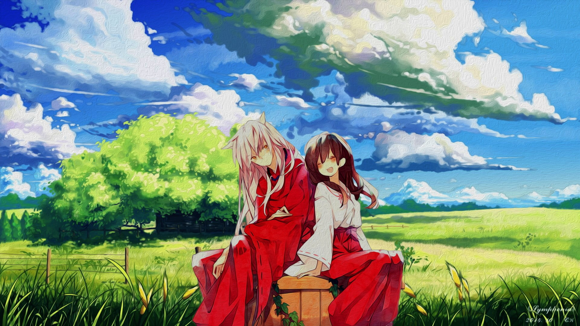 1920x1080 Inuyasha and Kikyo, anime, Inuyasha HD wallpaper