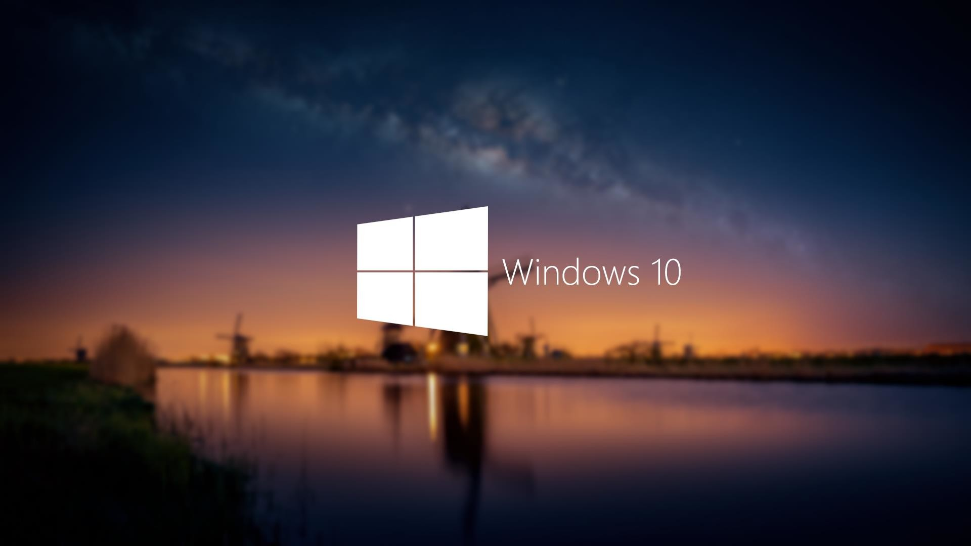 1920x1080 Windows 10 Abstract Desktop Wallpaper