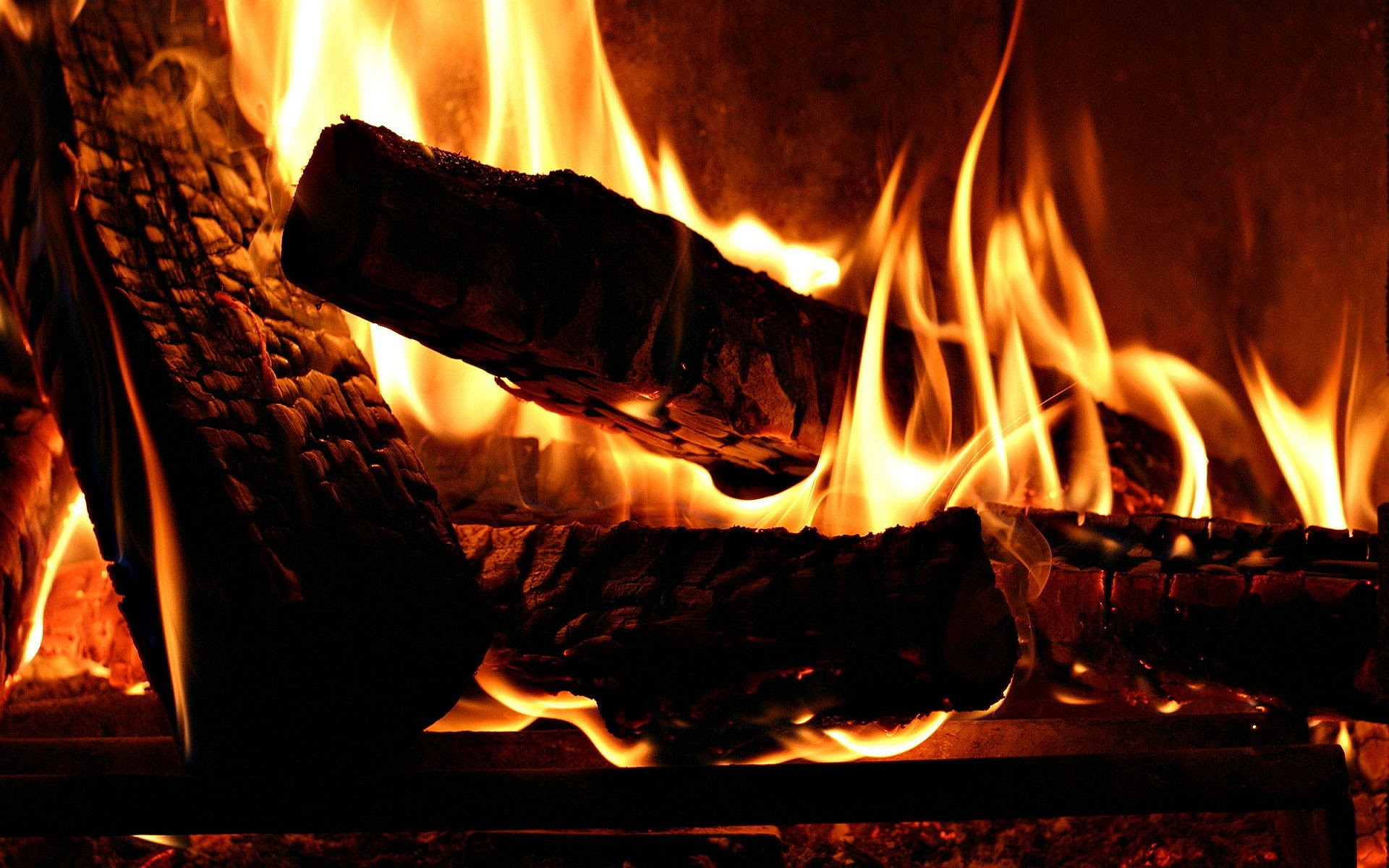 1920x1200 Flames In Fireplace Wallpapers