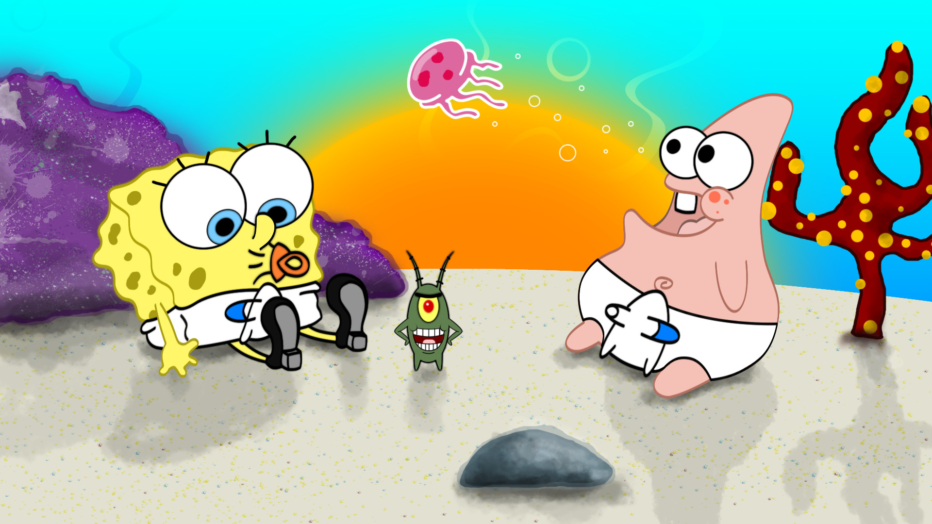 1920x1080 Tags: cartoon, SpongeBob Squarepants