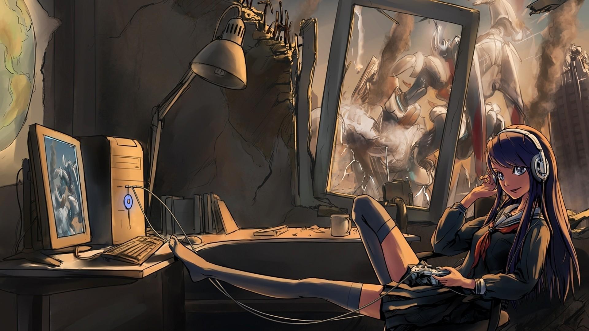 Anime gamer wallpaper 71 images - Portrait anime wallpaper ...