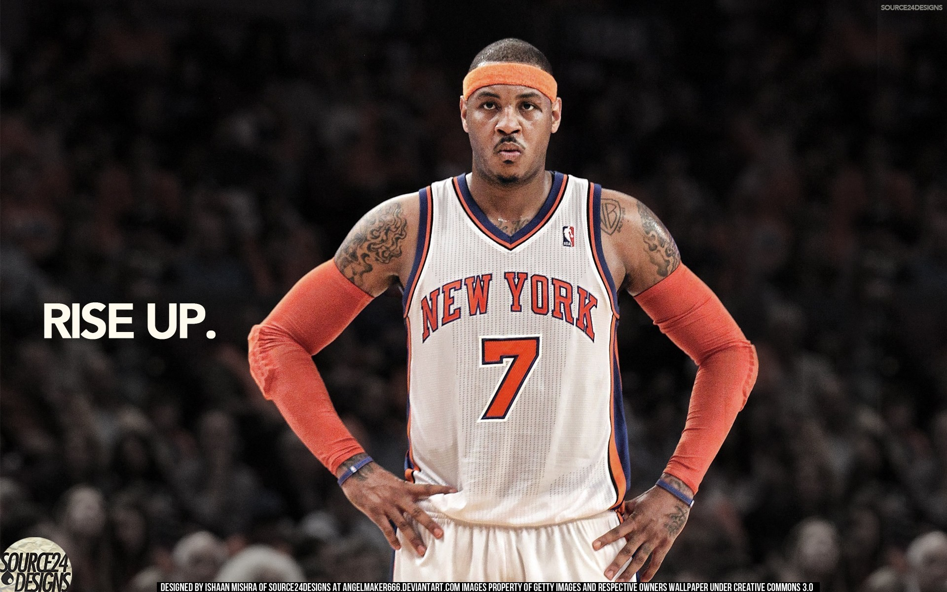 1920x1200 Player New York Knicks Carmelo Anthony 1080p HD Wallpaper Background