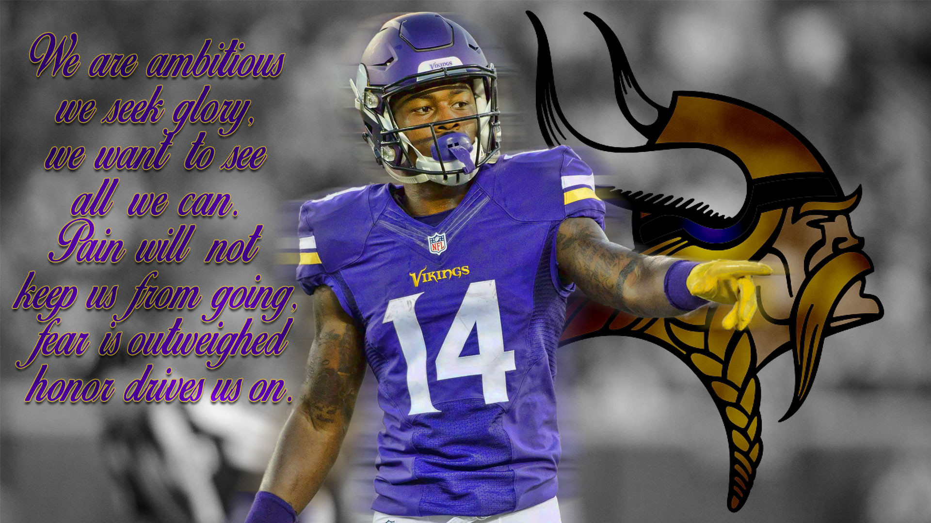 1920x1080 Minnesota Vikings Heavy Metal Tablet wallpaper