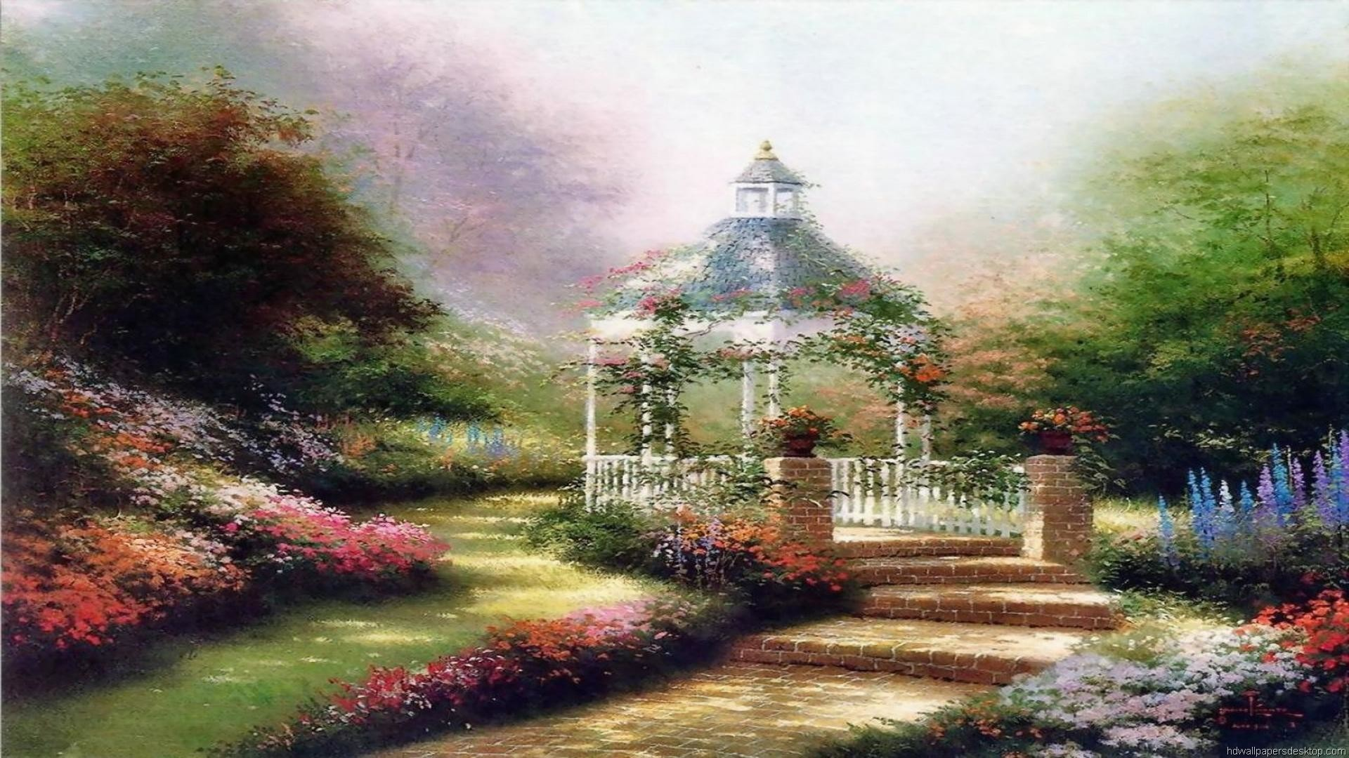 1920x1080 Thomas Kinkade Wallpaper, Paintings, Art, HD, Desktop, Thomas Kinkade 6