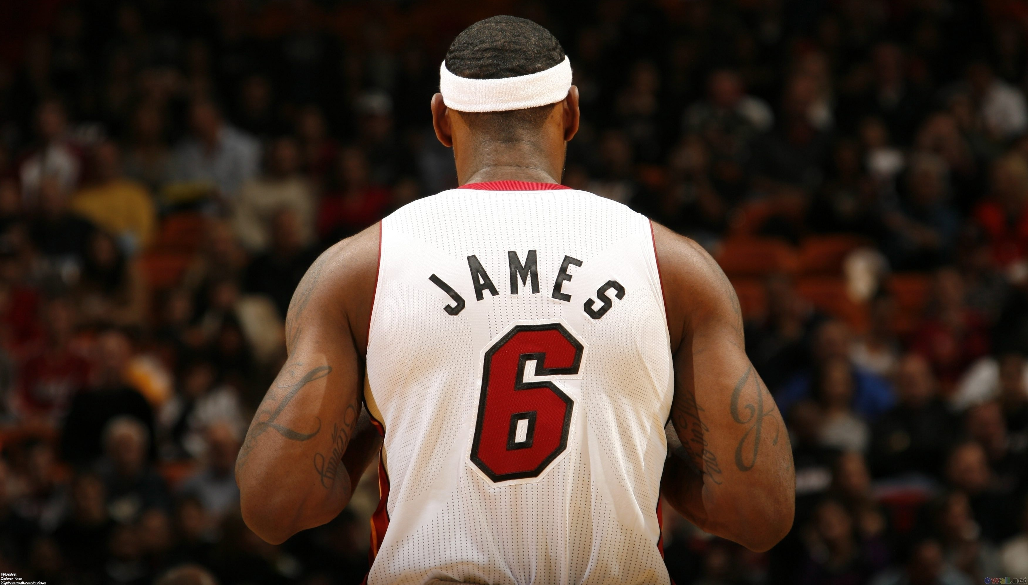 3504x1996 LeBron James Miami Heat NBA wallpaper