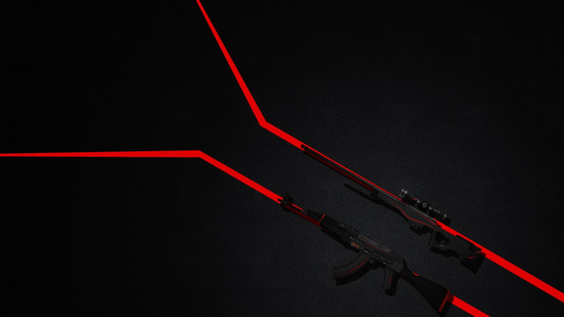 1920x1080 AK47 AWP Redline Wallpaper