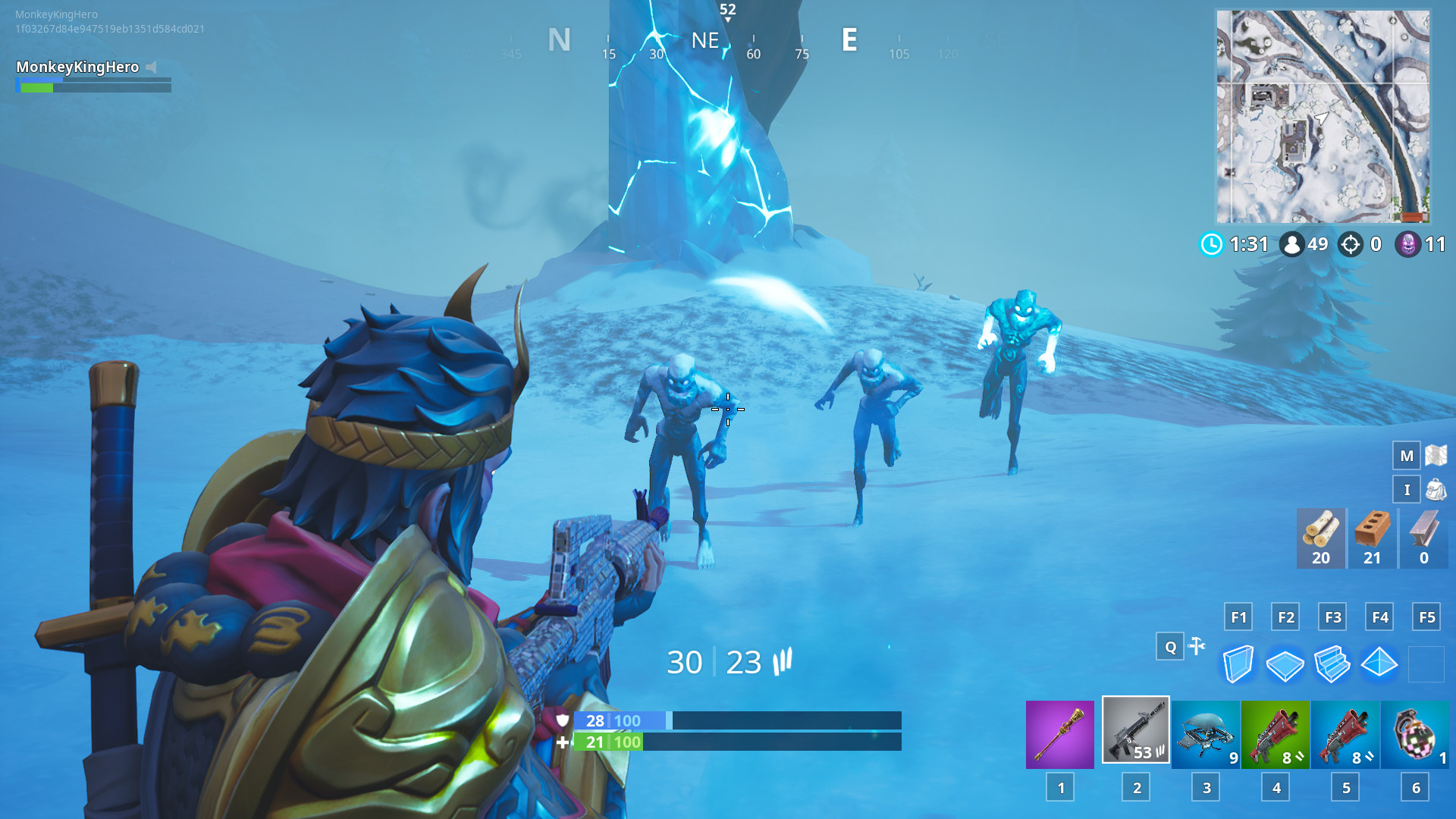 1920x1080 Ice Fiends, Ice Legion and Ice Brutes spawning from the Ice Shard.