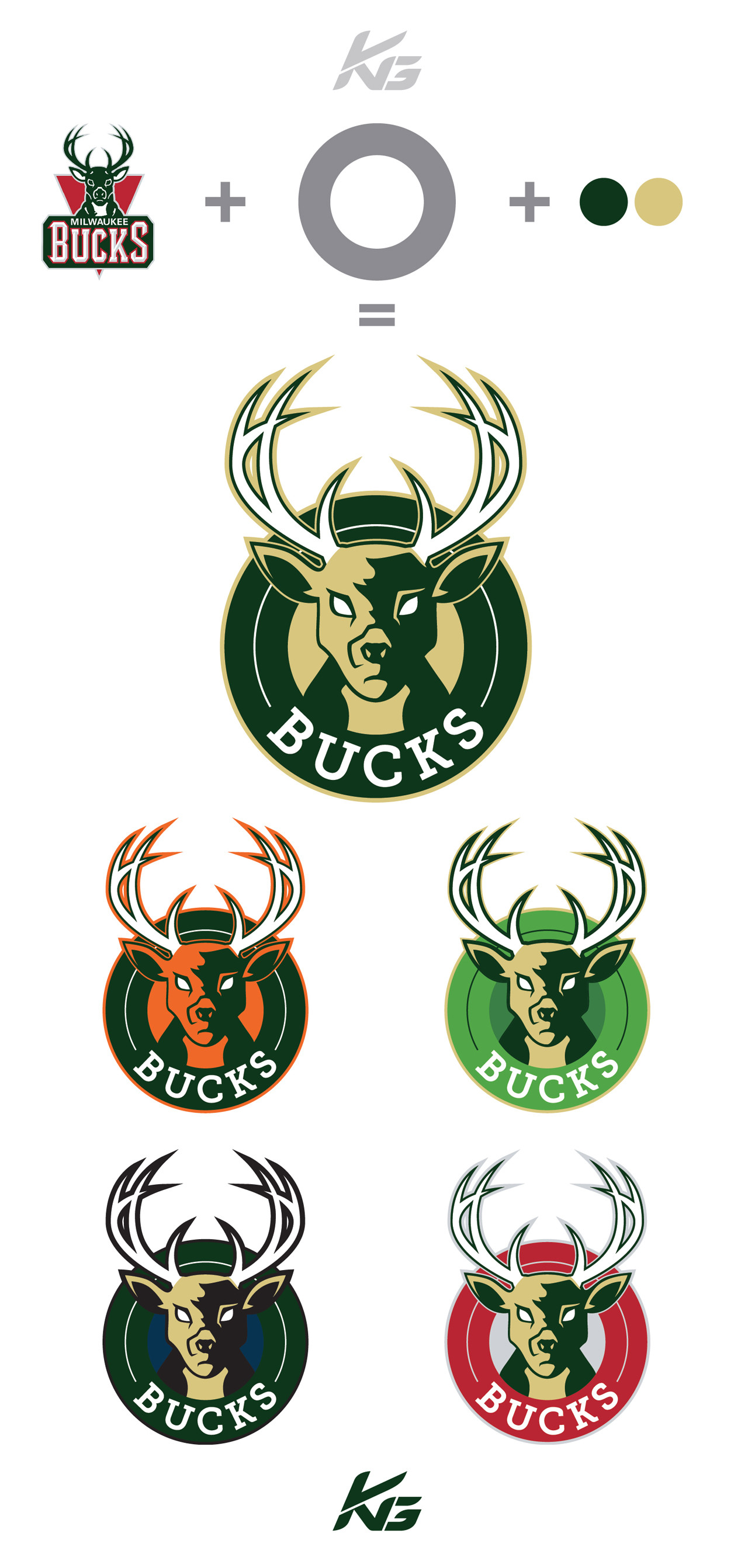 1280x2684 I took a shot at creating the new Bucks logo based off all the rumours and  also tried it out in the different colors that have been mentioned.