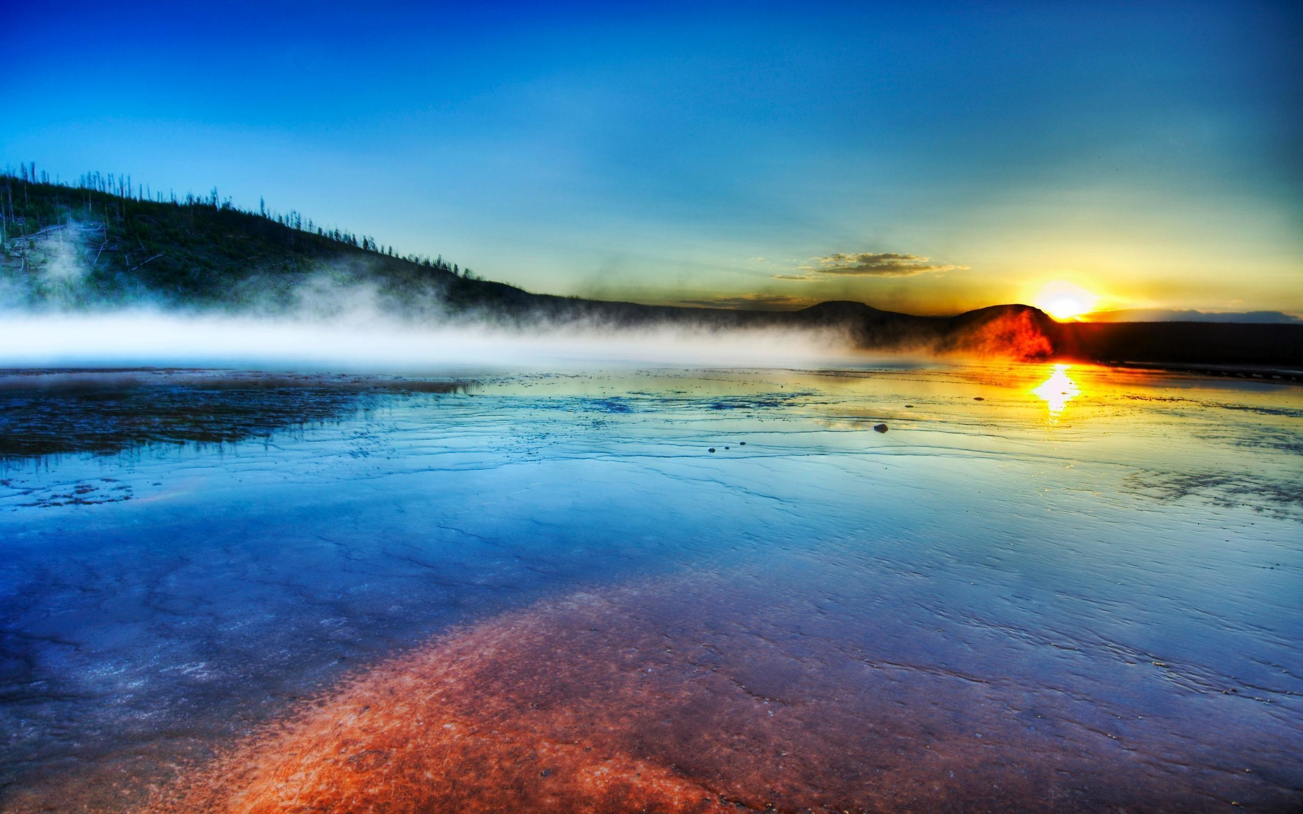 2560x1600 Sunrise Yellowstone