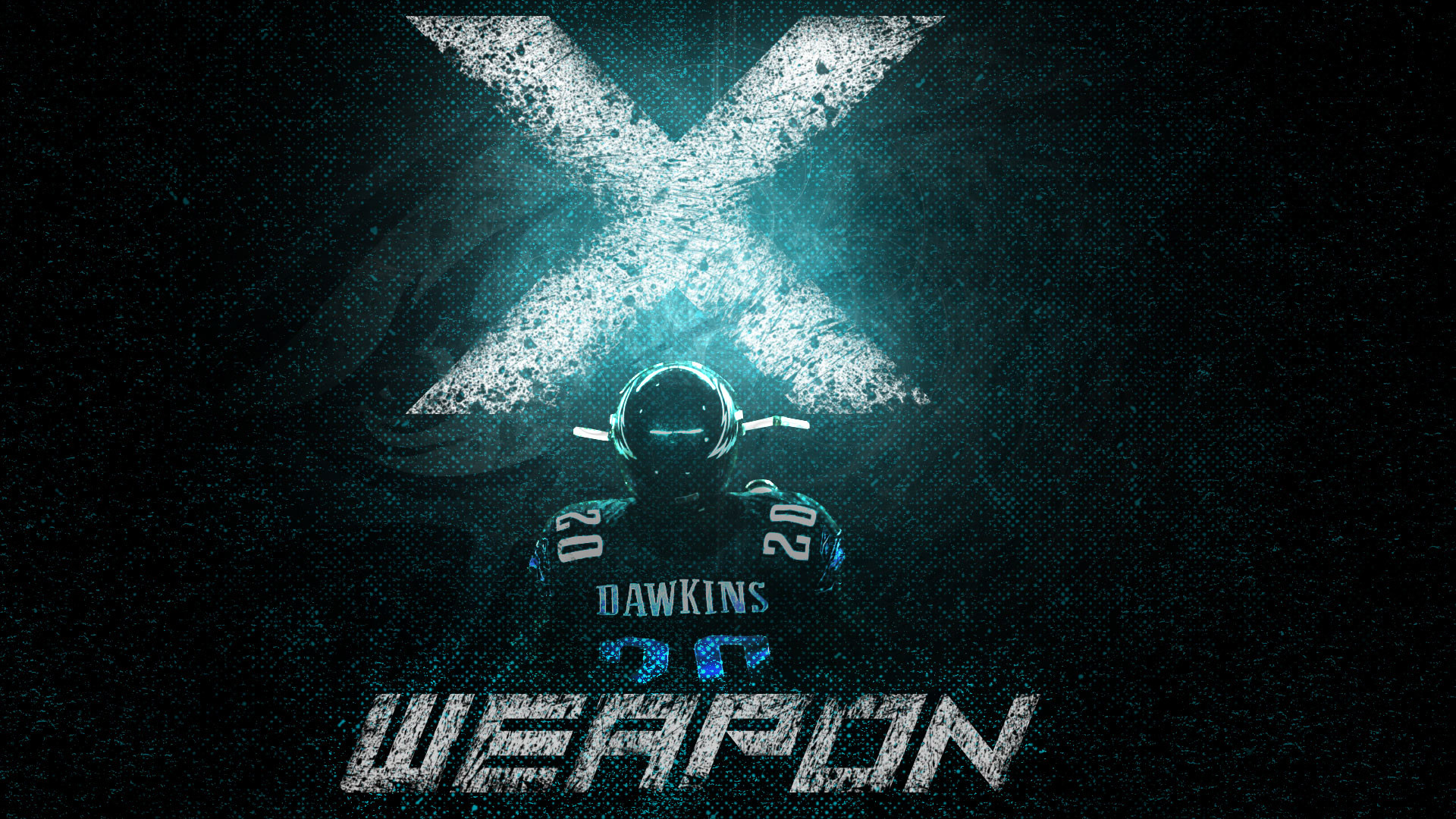 "1920x1080 I made a Brian Dawkins ""Weapon X"" wallpaper! Hope you guys like"