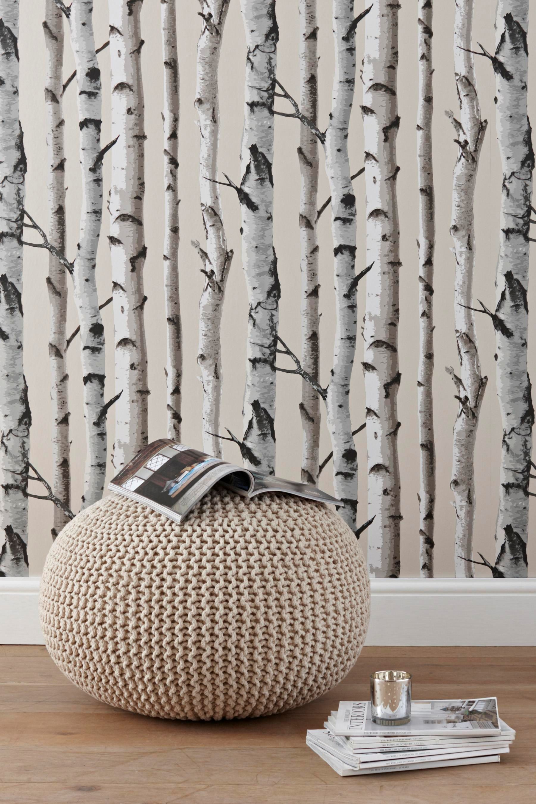 1800x2700 Birch trees wallpaper- would like this for the chimney breast.
