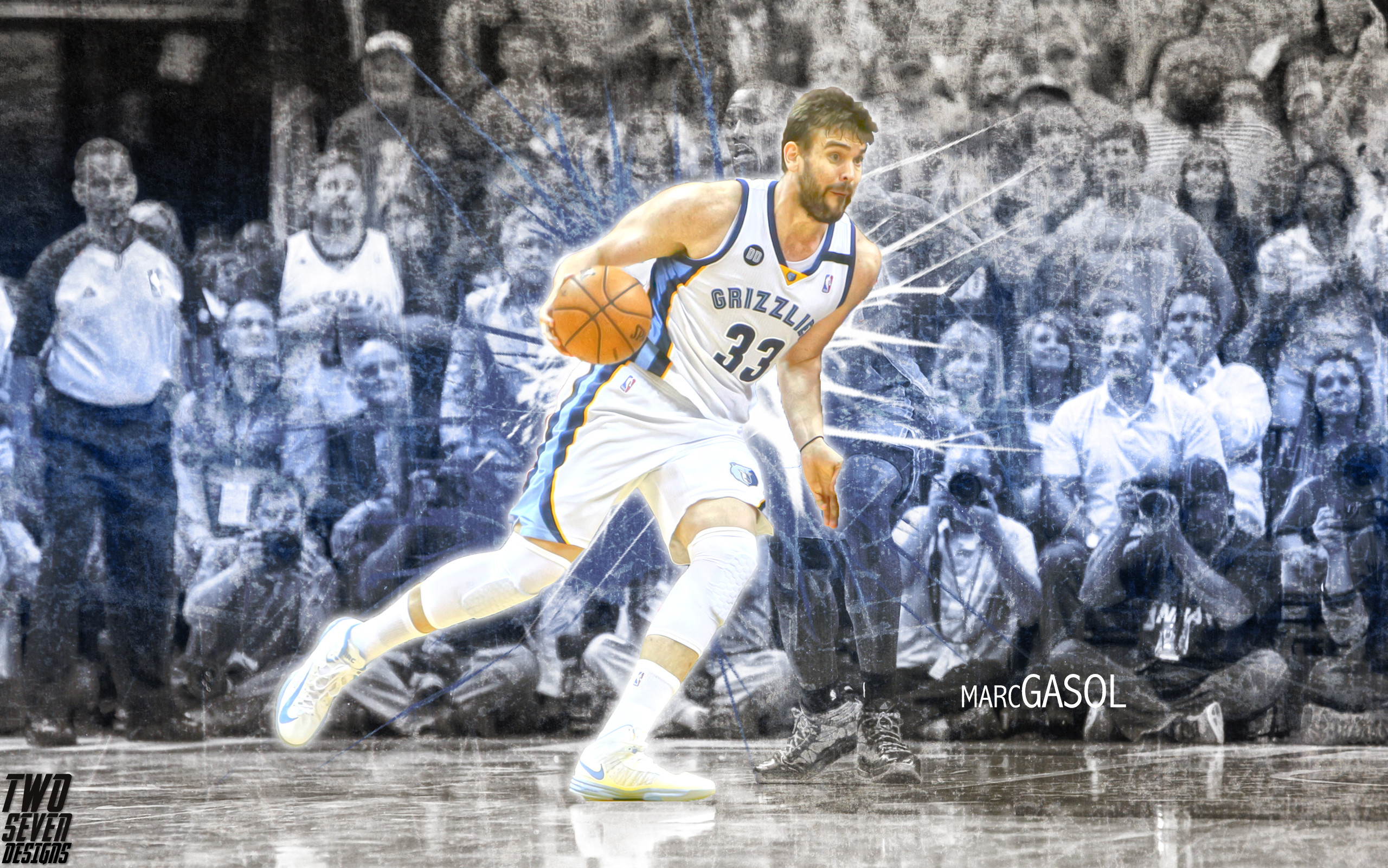 2560x1601 NBA: Playoffs-Oklahoma City Thunder at Memphis Grizzlies. Morris Twins  Wallpaper