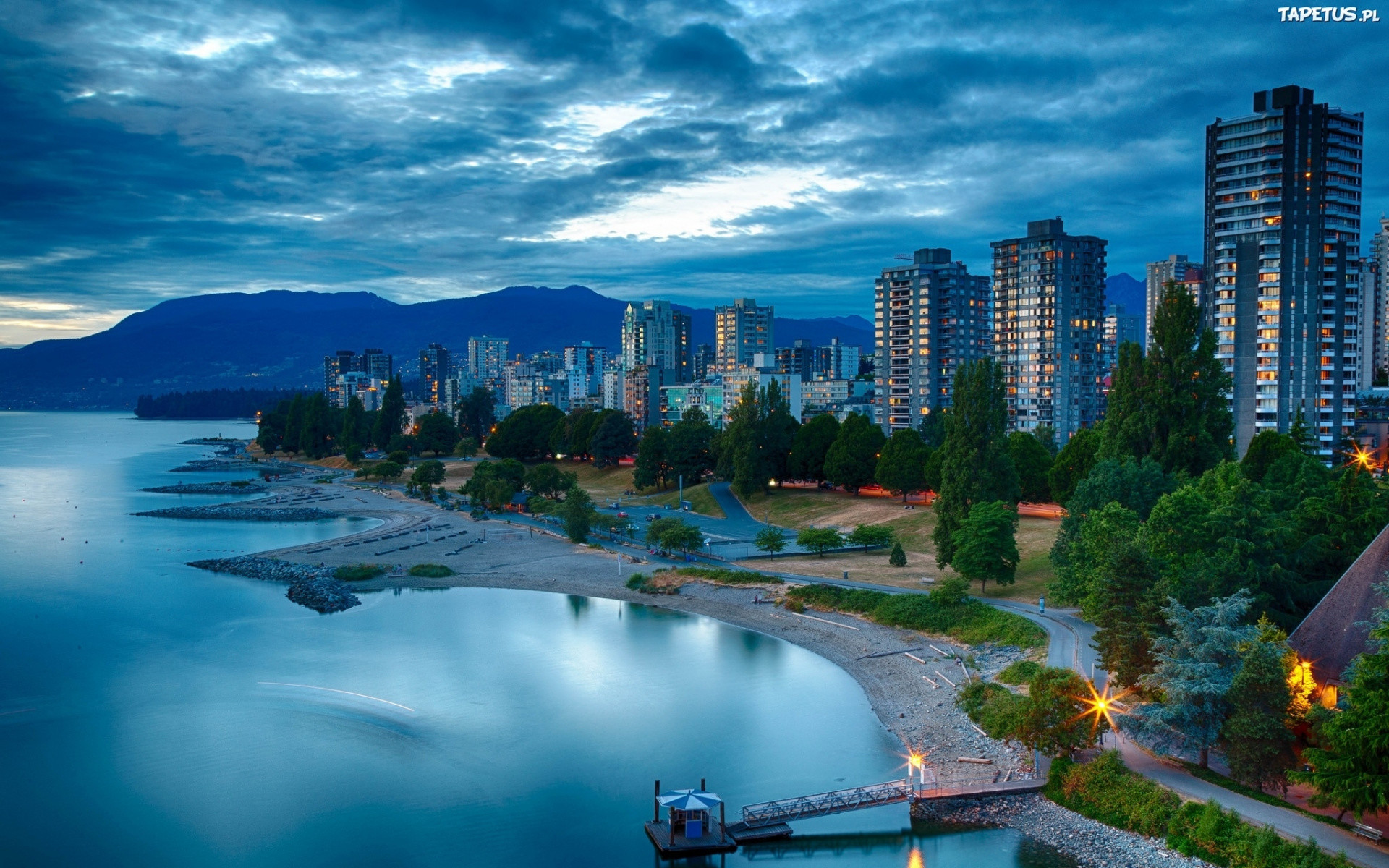 1920x1200  wallpaper city, vancouver, skyline, daytime, handheld devices