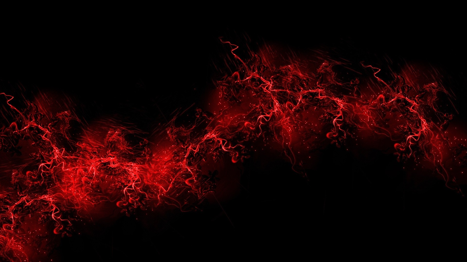 1920x1080 Preview wallpaper black background, red, color, paint, explosion, burst