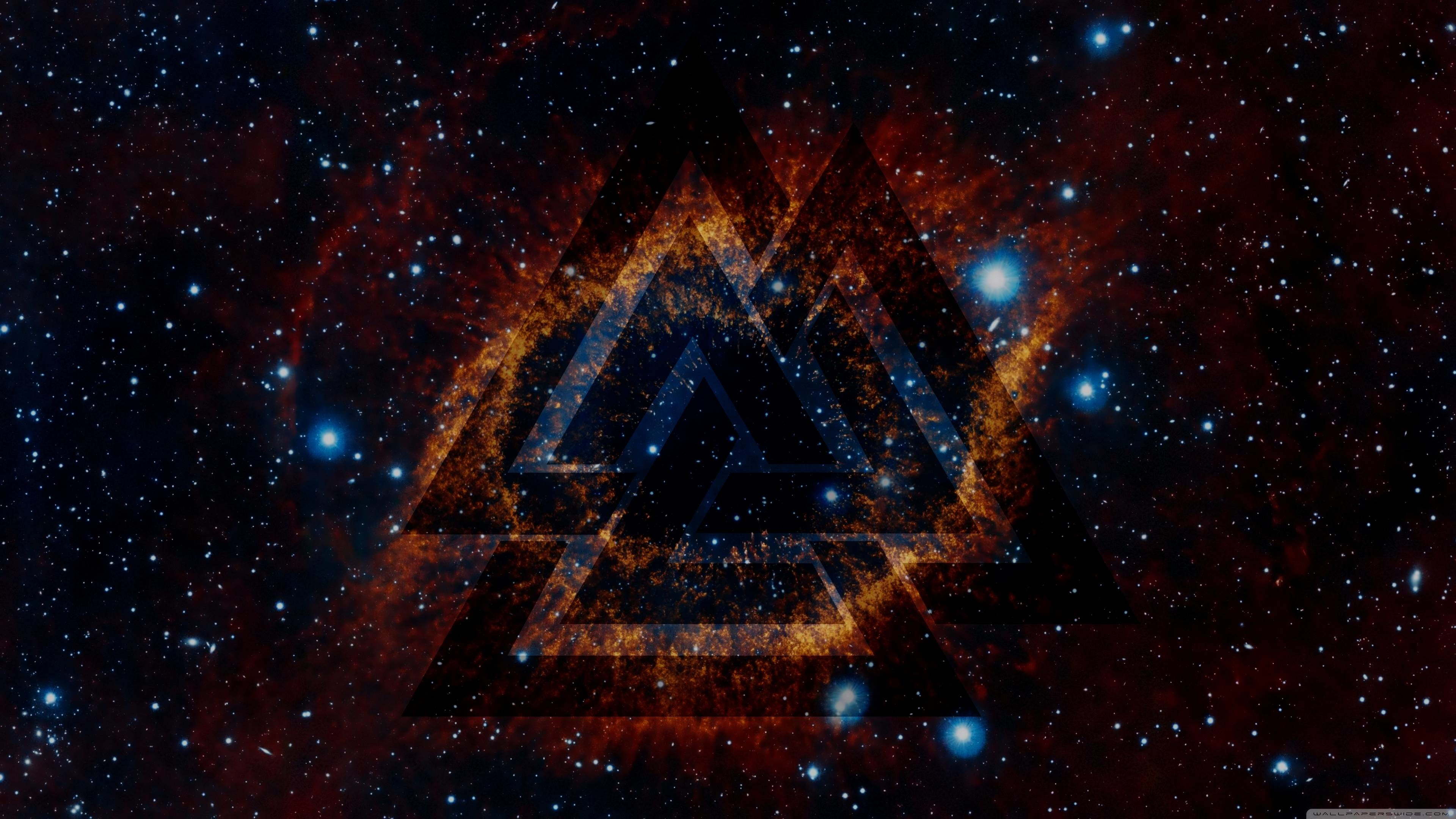 3840x2160 [] I combined a space wallpaper with a valknut overlay, removed  some noise, and made myself a nice wallpaper. I didn't create the two stock  images, ...