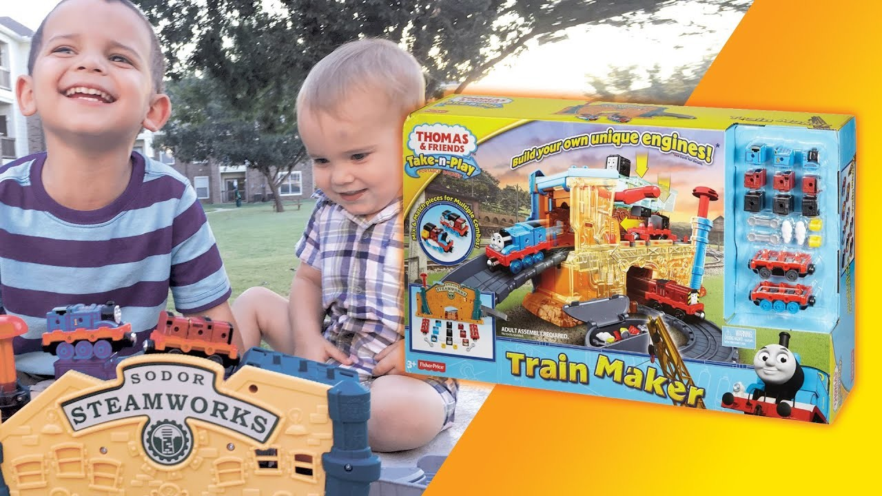 1920x1080 Thomas and Friends Take-n-Play Train Maker Build Your Own ToyBox Tube