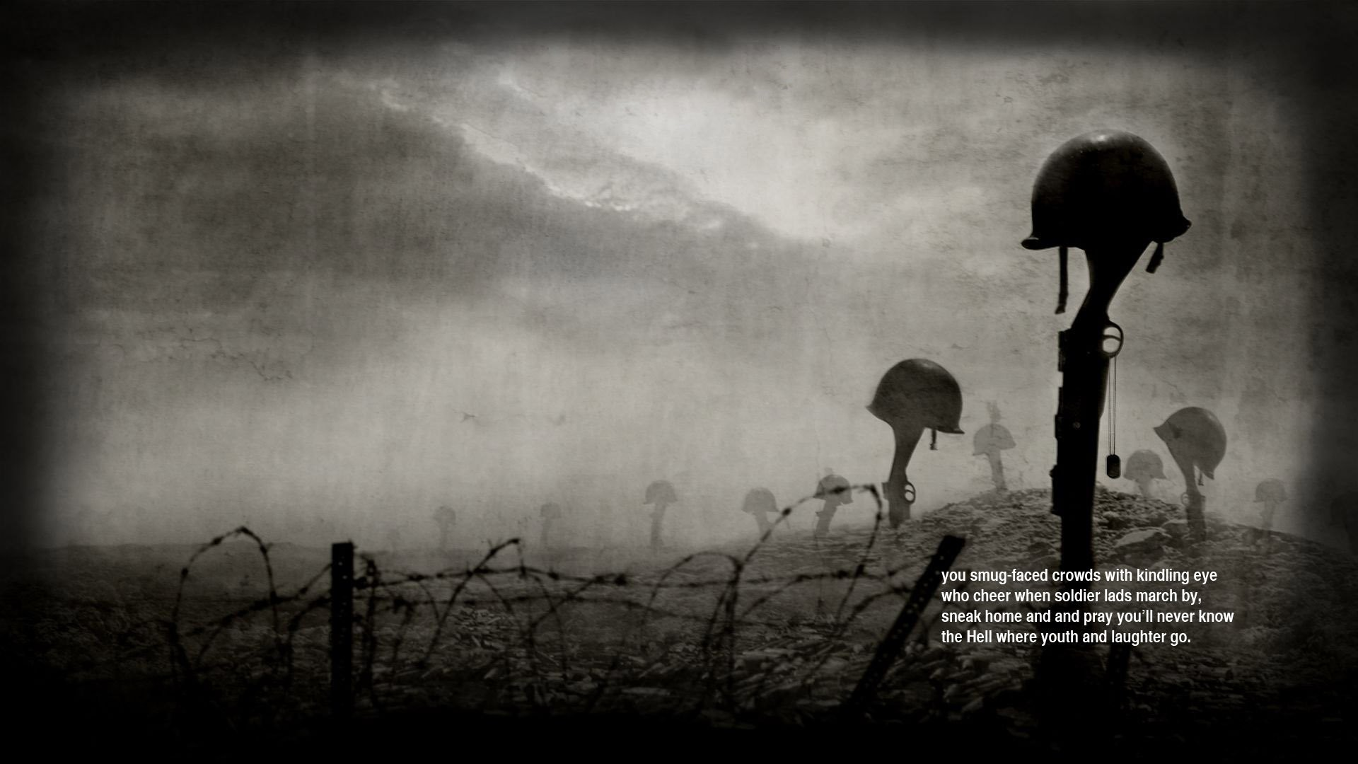 1920x1080 War guns quotes helmets poetry Siegfried Sassoon wallpaper |  |  304814 | WallpaperUP