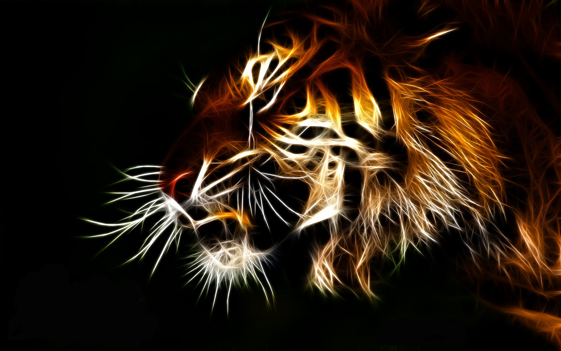 1920x1201 tiger fractal cats e wallpaper background