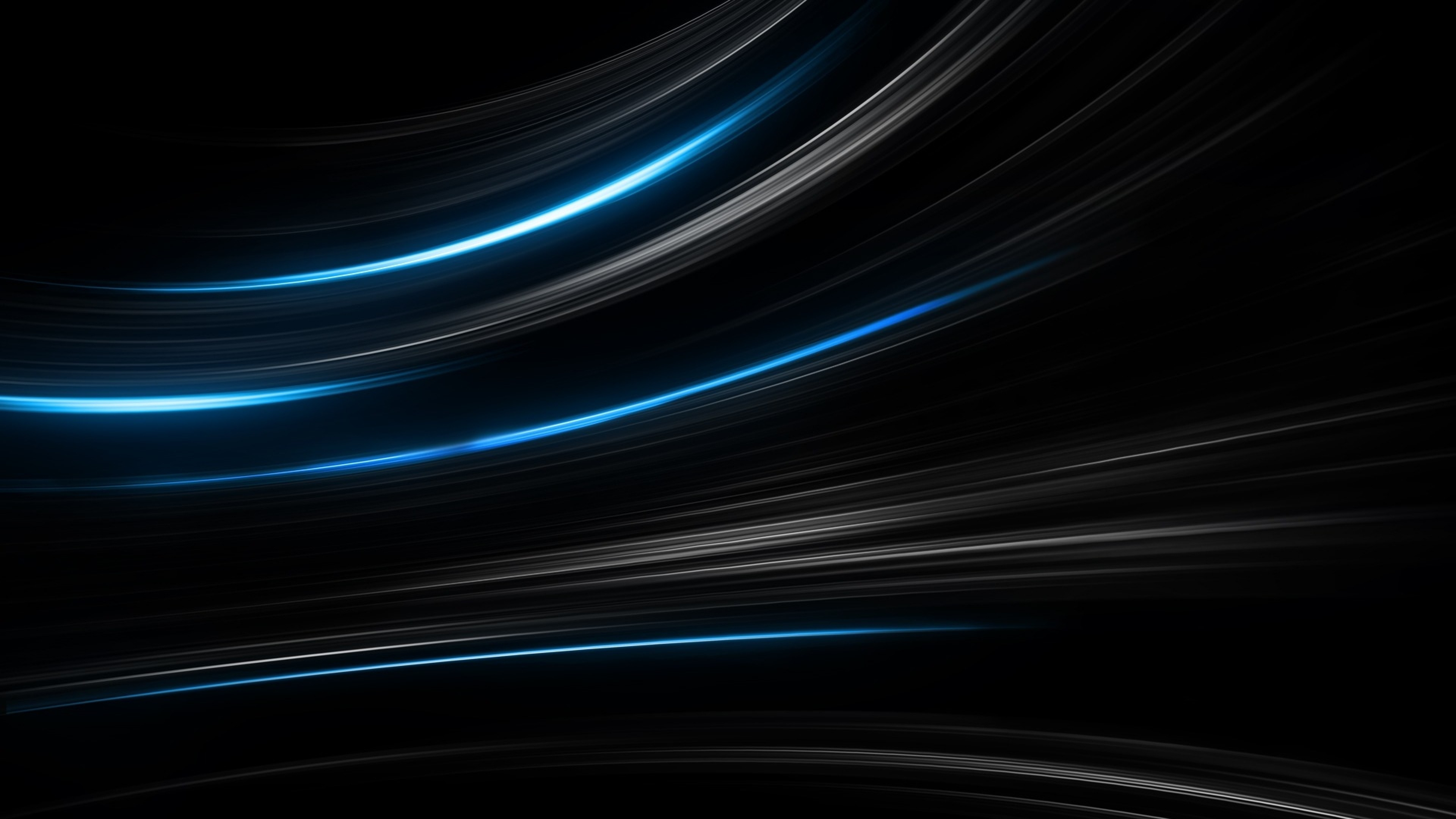 3840x2160 Preview wallpaper black, blue, abstract, stripes