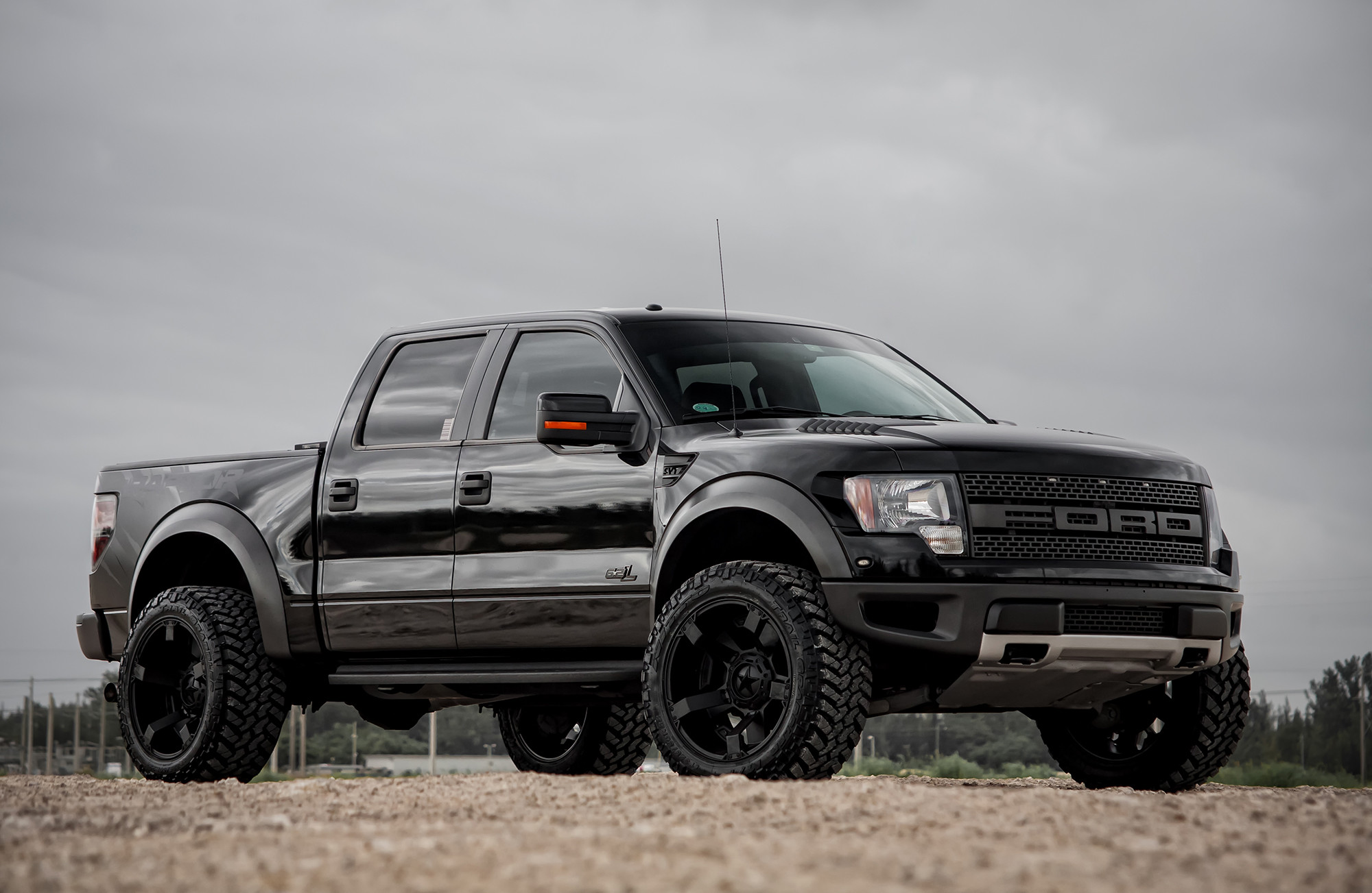 2000x1303 Customized Ford SVT Raptor Black With Suspension Leveling Wallpaper  Wallpaper