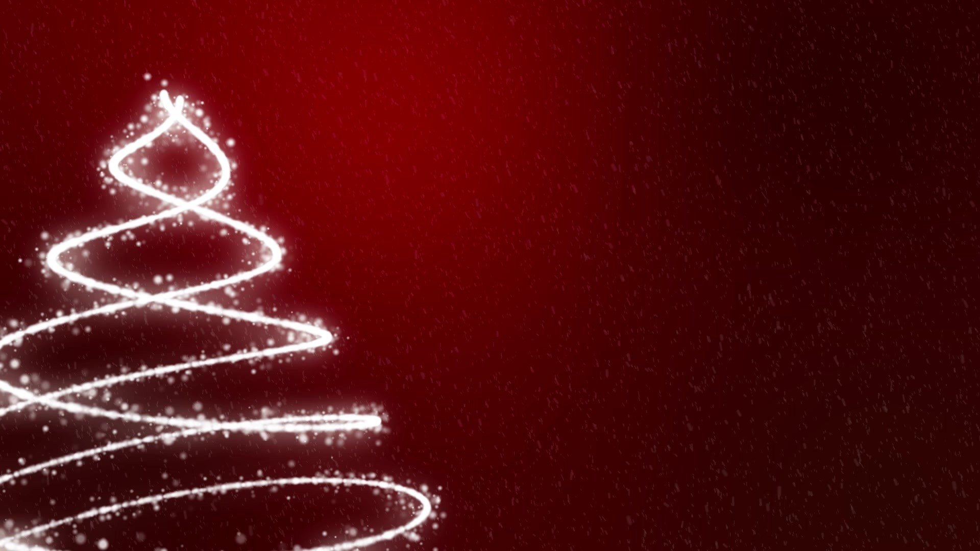 Red Christmas Tree Background Wallpaper
