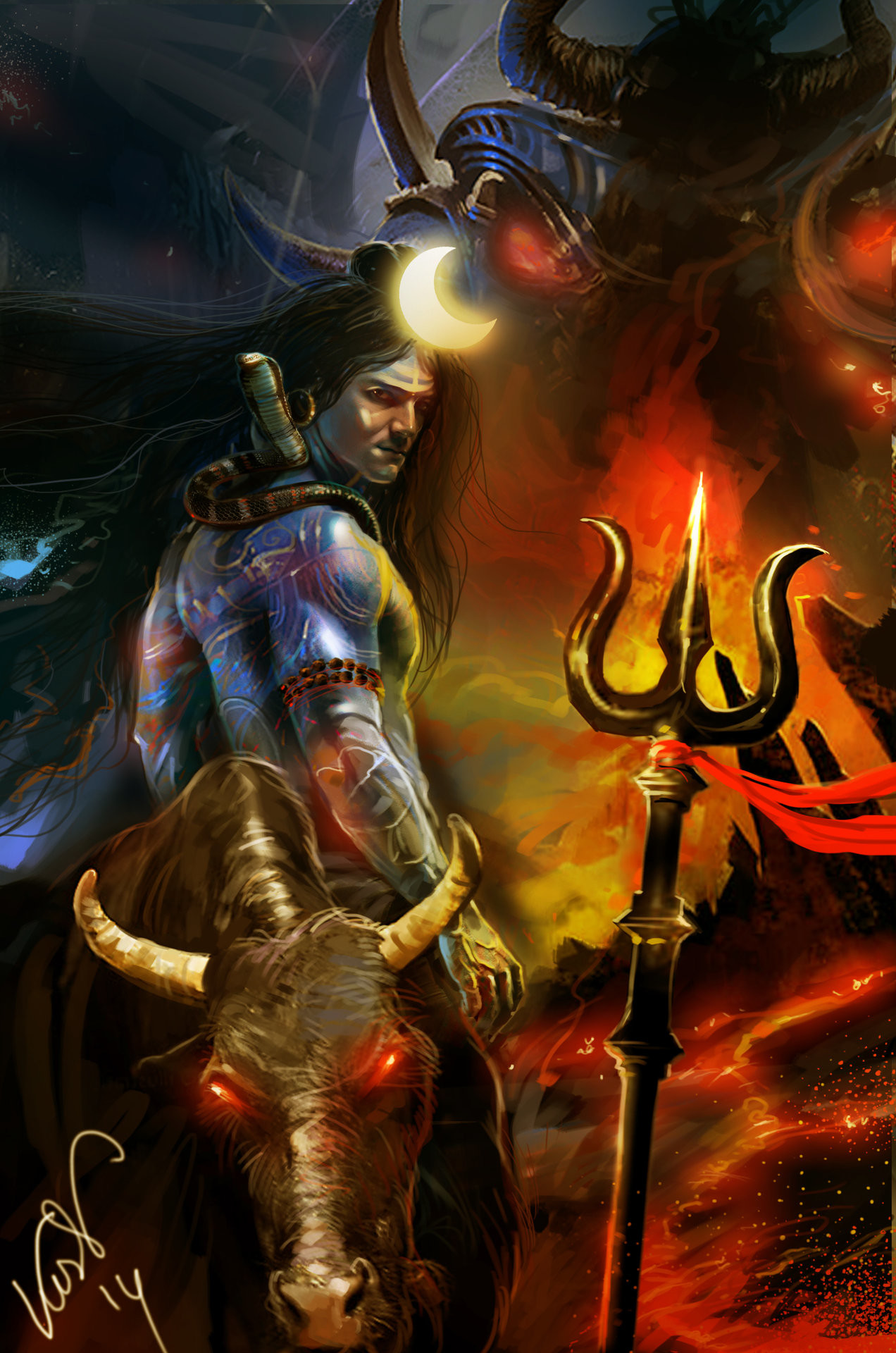 Cached Artistic pictures of lord shiva