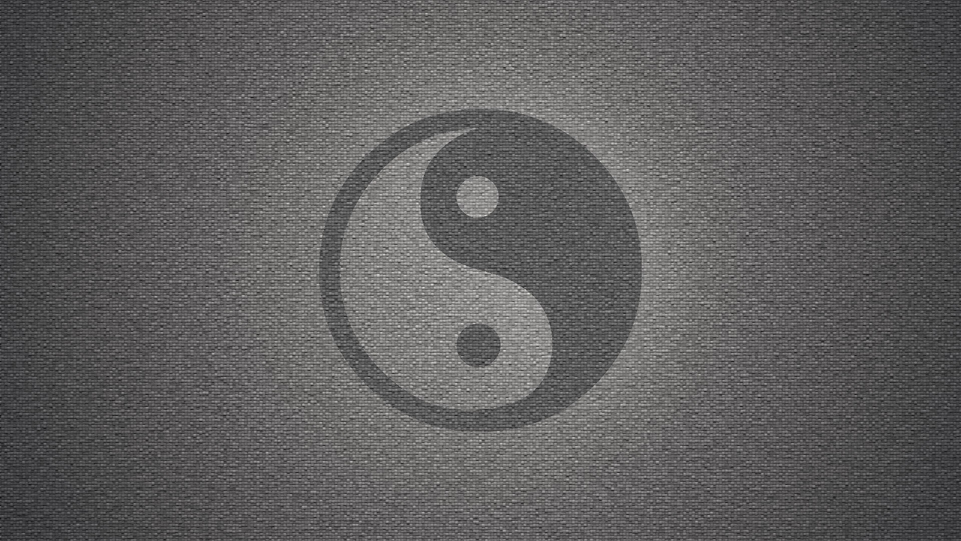 1920x1080 wall yin yang symbol textures grayscale backgrounds symbols wallpaper