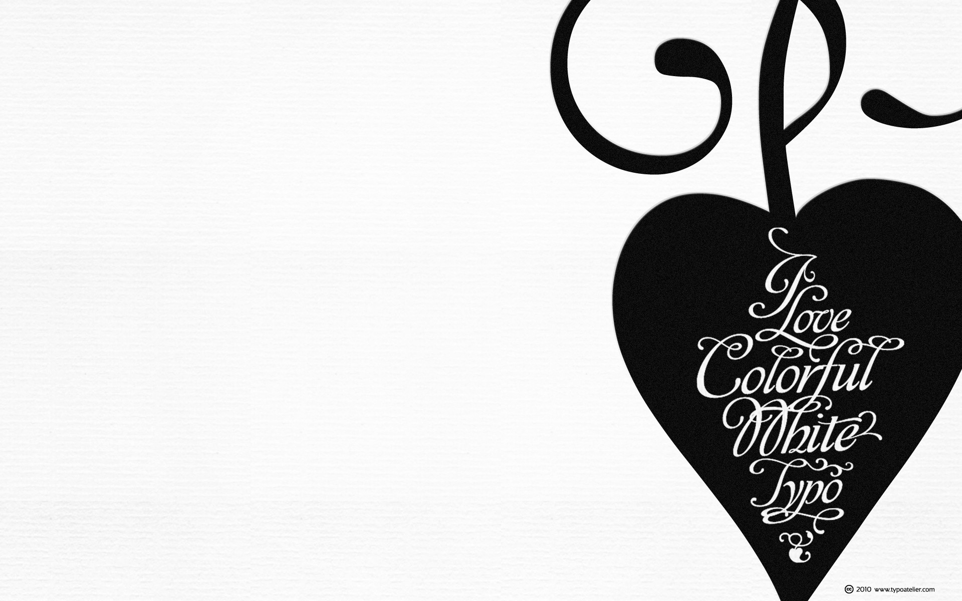 1920x1200 Black and white typography hearts wallpaper