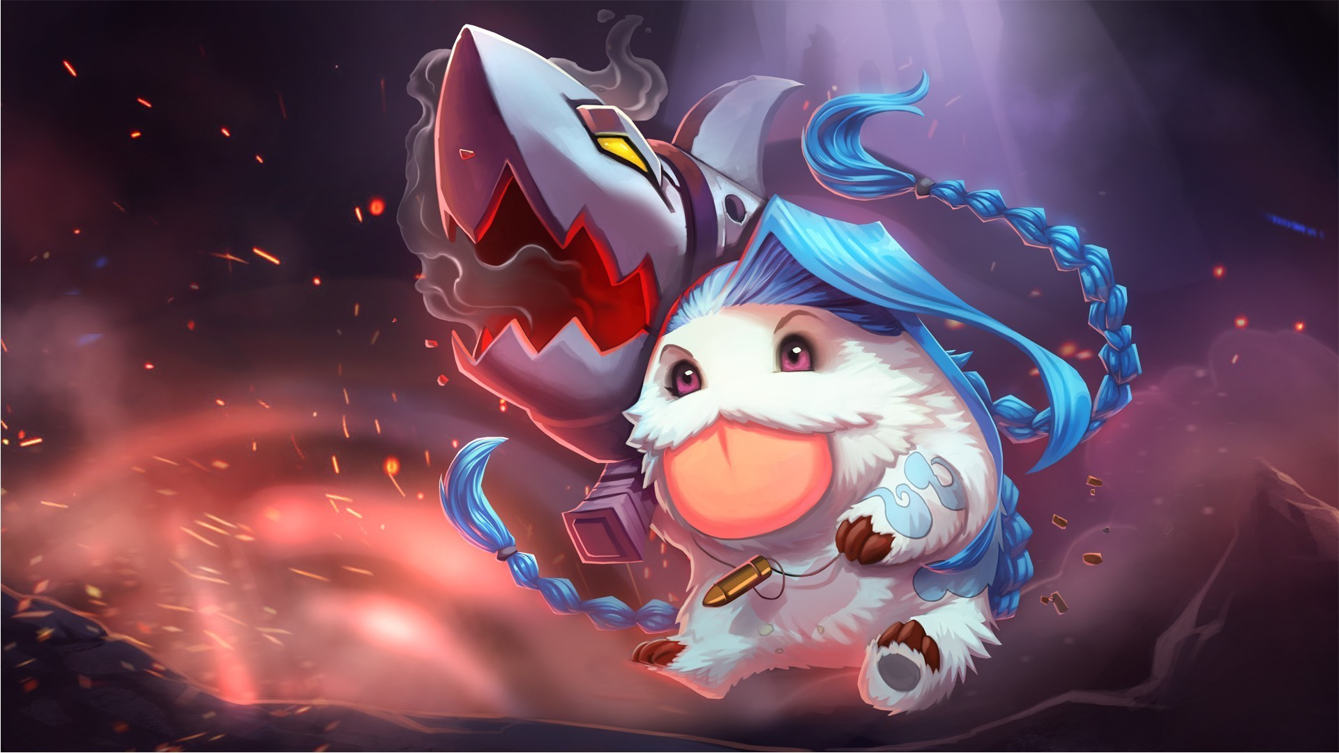 1920x1080 League Of Legends, Poro, Jinx Wallpapers HD / Desktop and Mobile Backgrounds