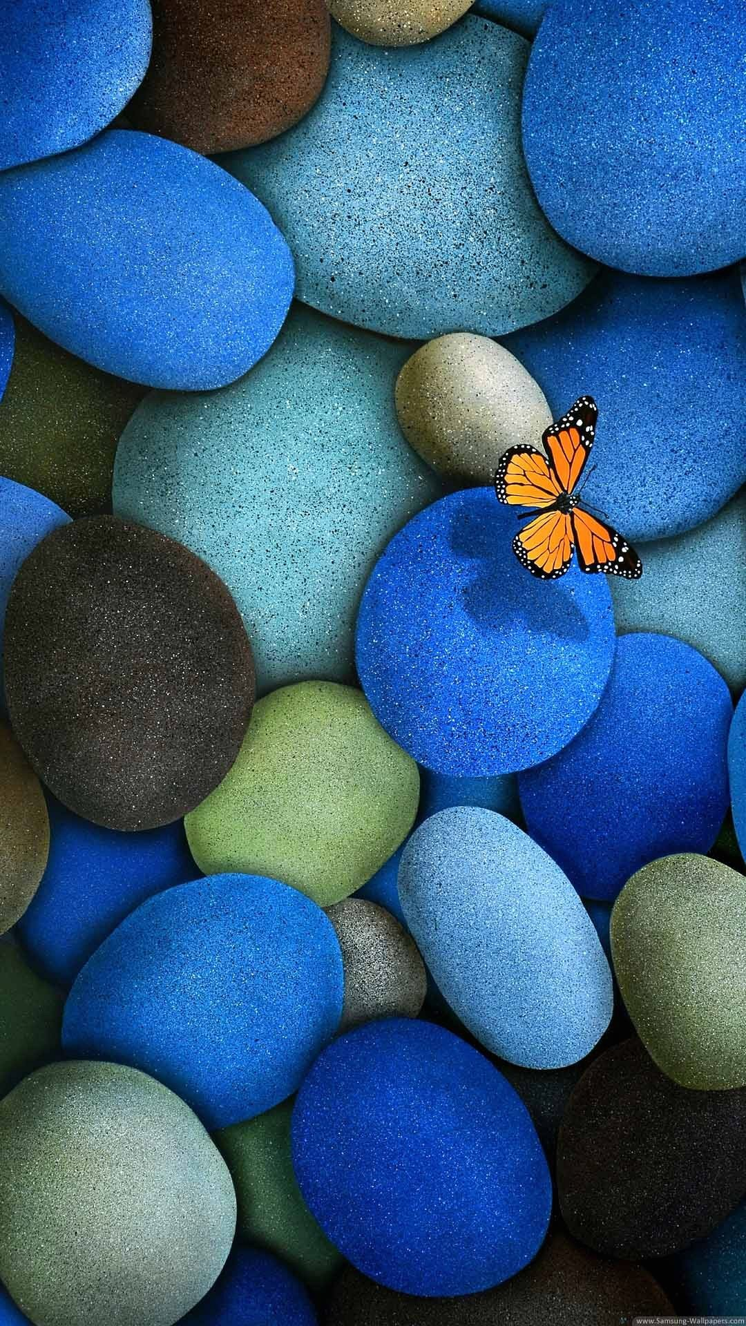 1080x1920 Wallpaper full hd 1080 x 1920 smartphone butterfly and stones