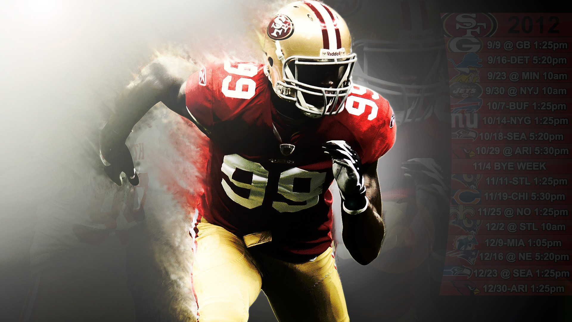 1920x1080 49ers schedule Wallpaper Aldon Smith 1 (PST) by SanFran49er.