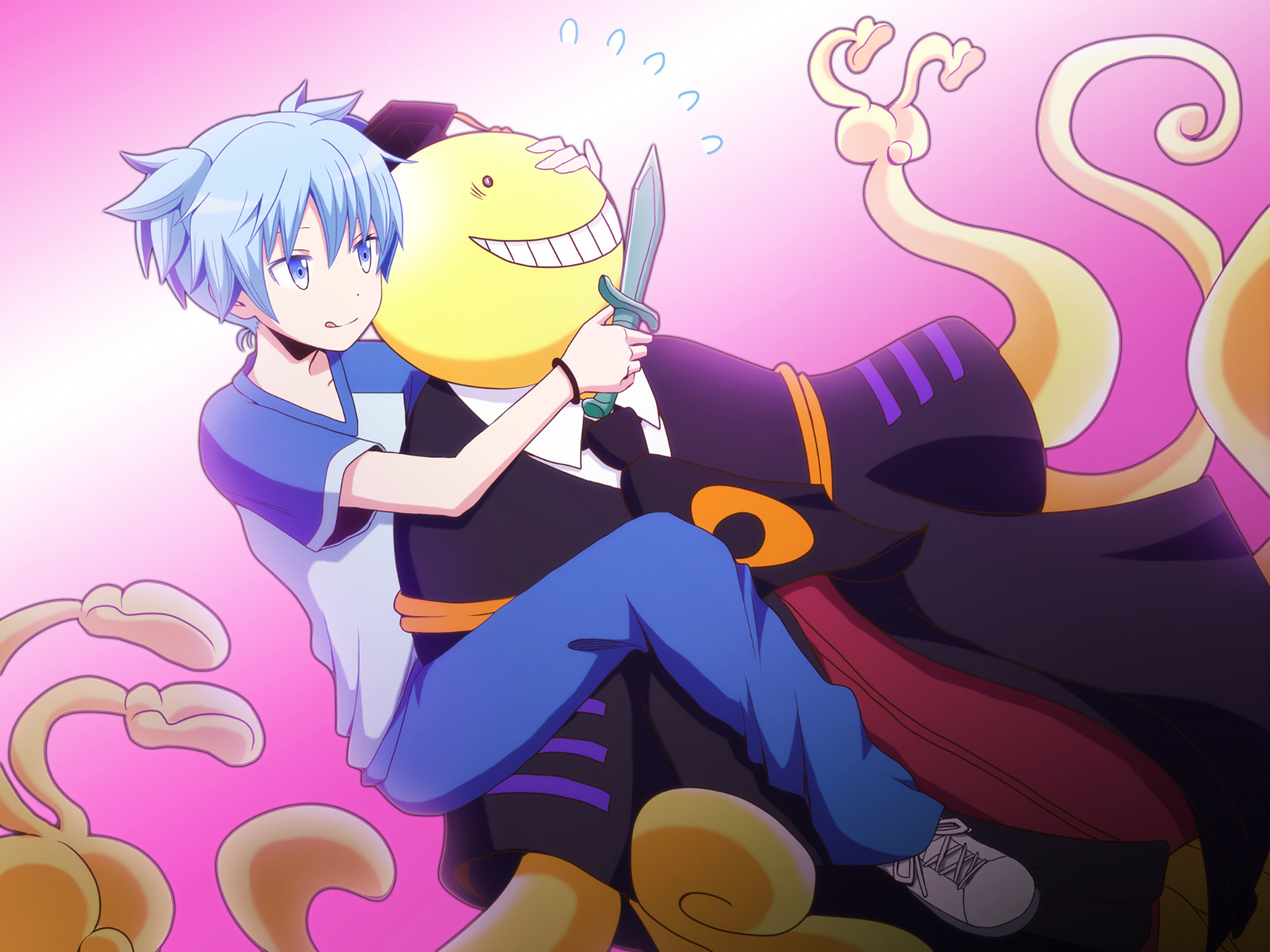1920x1440 Anime Assassination Classroom Koro-sensei Nagisa Shiota Wallpaper