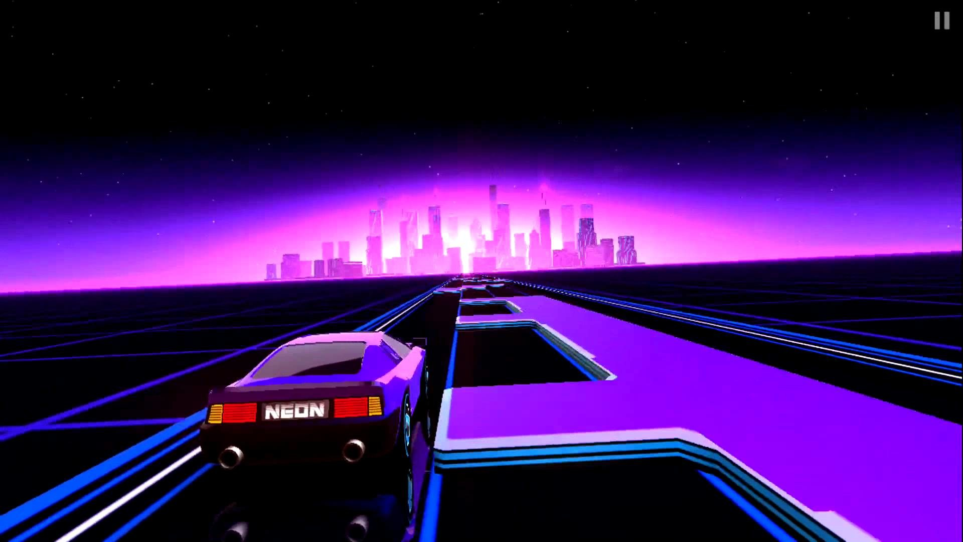 1920x1080 Neon Drive - '80s style arcade game - Gameplay iOS Обзор игры - YouTube