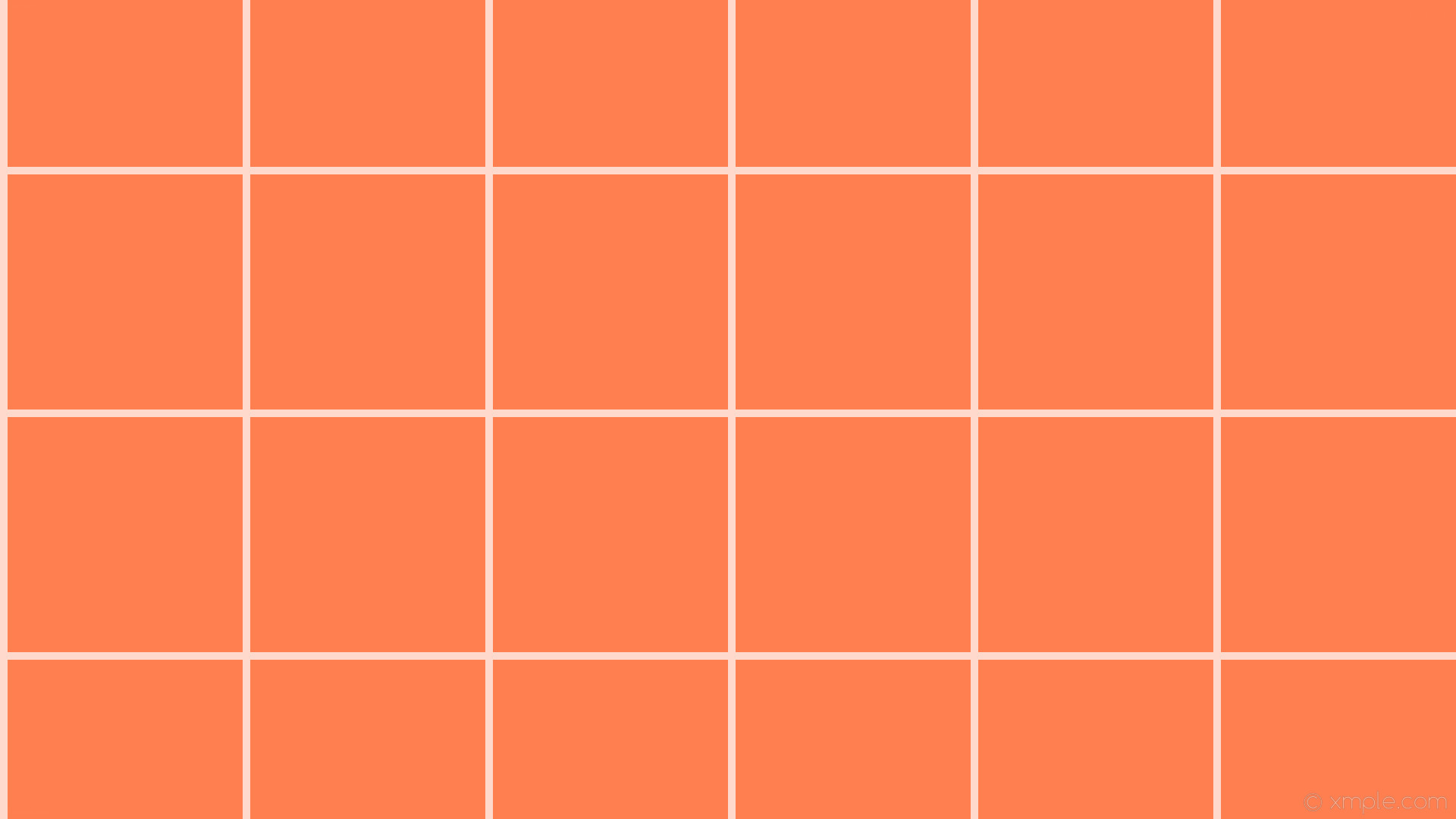 1920x1080 wallpaper white orange grid graph paper coral #ff7f50 #ffffff 0° 10px 320px