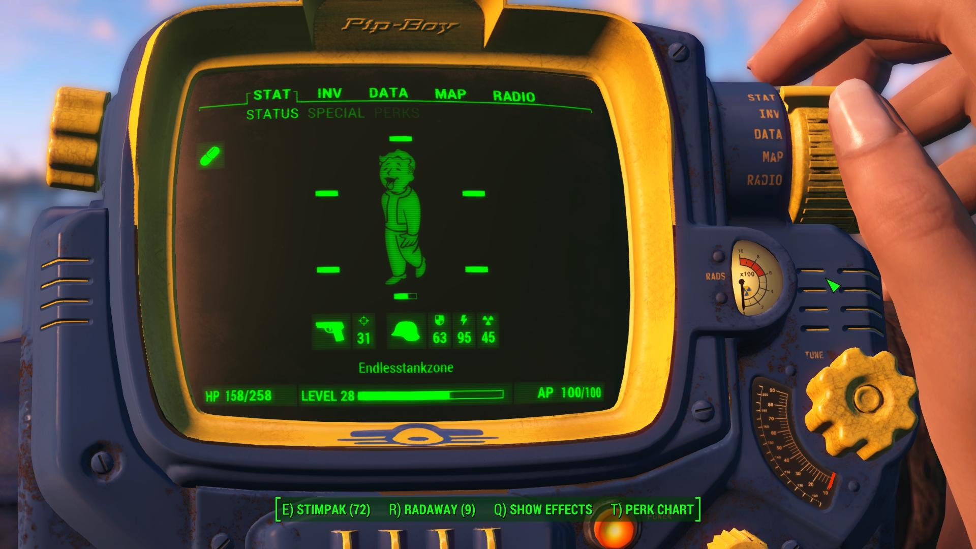 1920x1080 Vault-Tec branded PipBoy 3000 Fallout 4