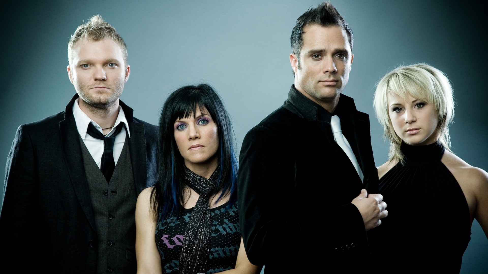 1920x1080 Preview wallpaper skillet, band, members, background, look