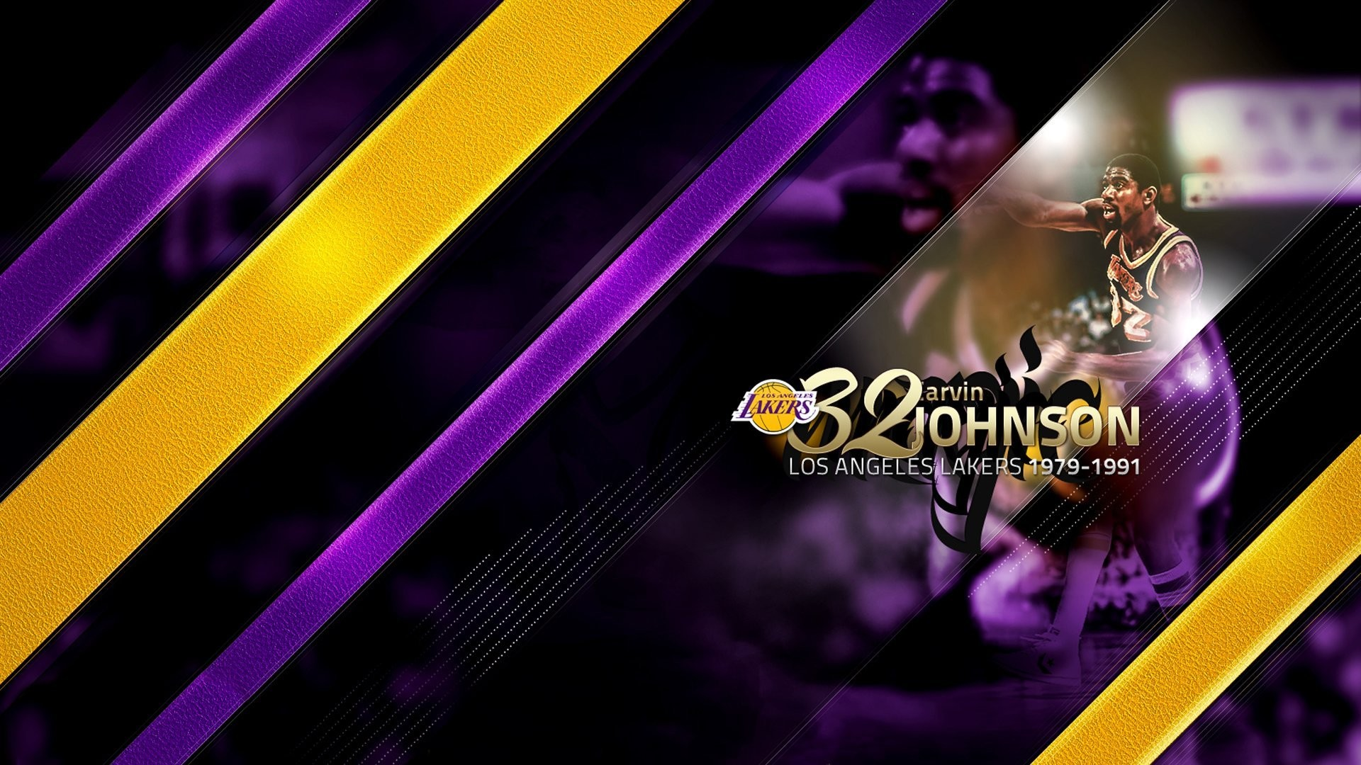 1920x1080 magic johnson los angeles lakers basketball sports nba