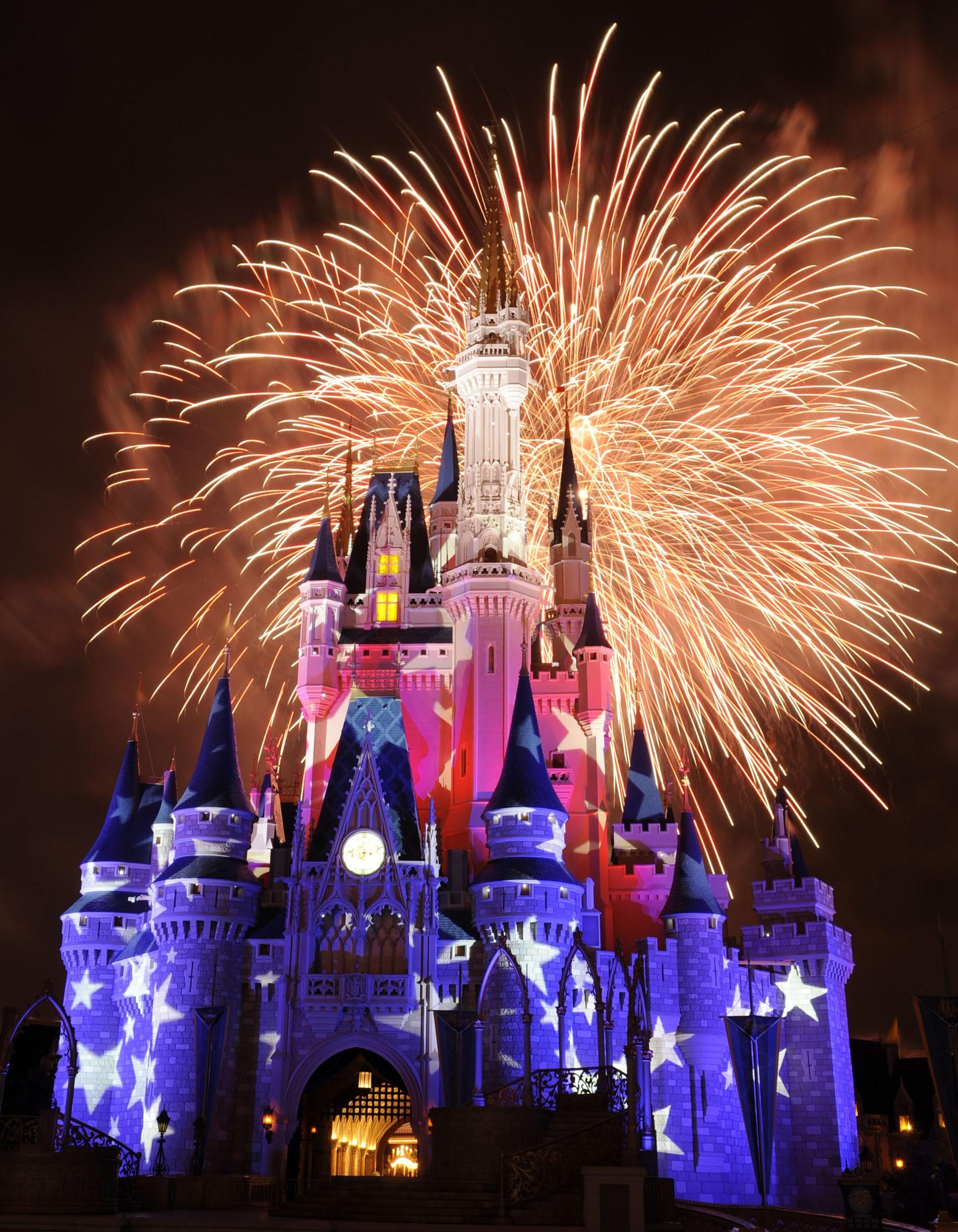 Disney World Castle Wallpaper Fireworks Download