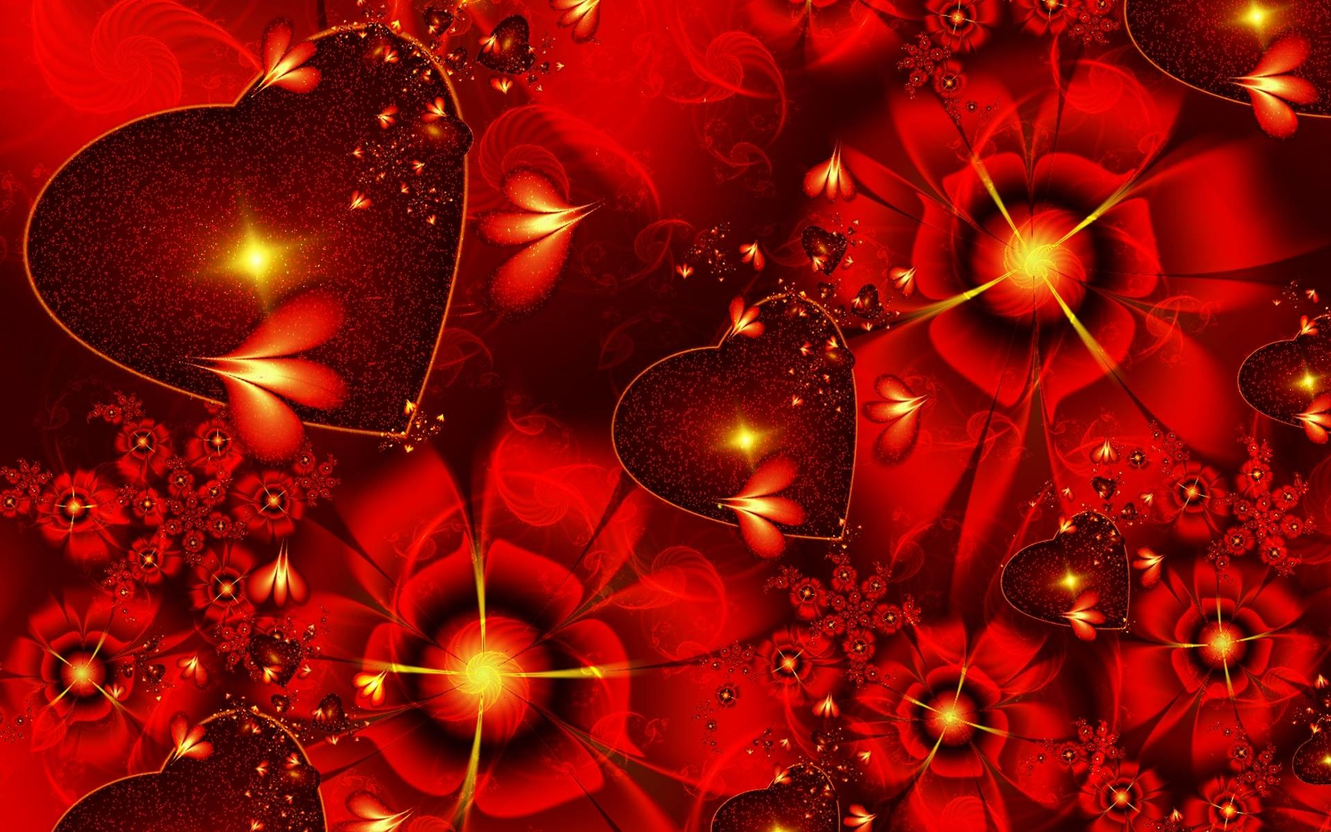 1920x1200 3d Abstract Happy Valentines Day Wide Wallpape #12813 Wallpaper .