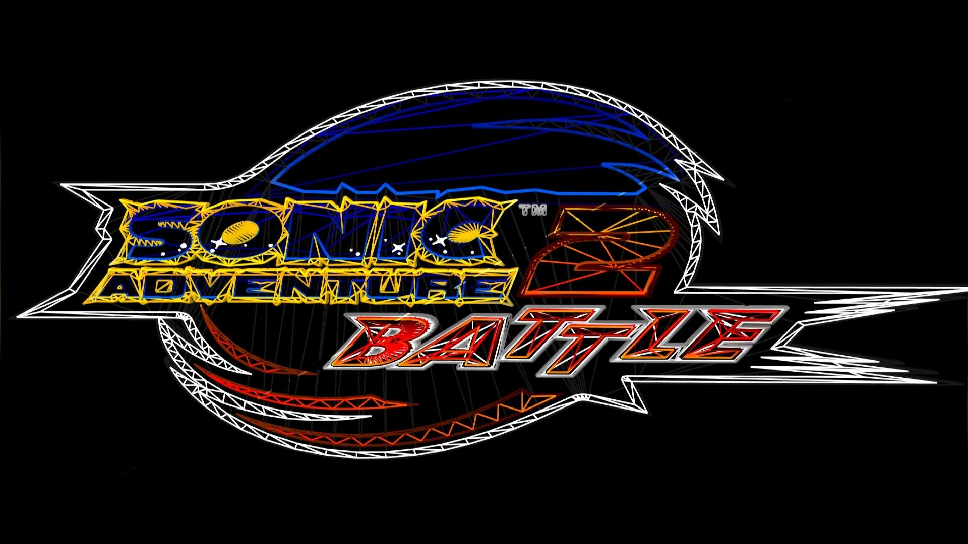 1920x1080 ... SA2B Logo in Wireframe-style by CosmoCortney