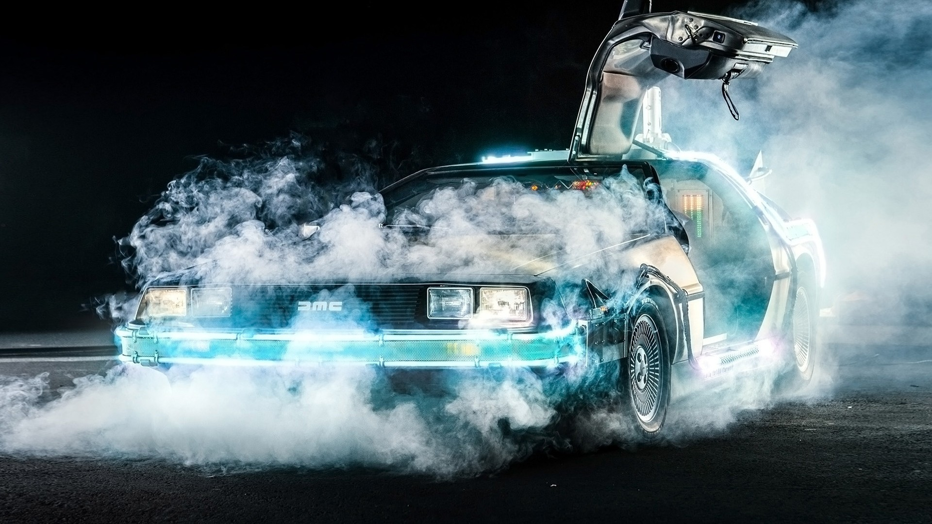 1920x1080 Back To The Future, DeLorean, Time Travel, Car, Movies, Smoke Wallpapers HD  / Desktop and Mobile Backgrounds