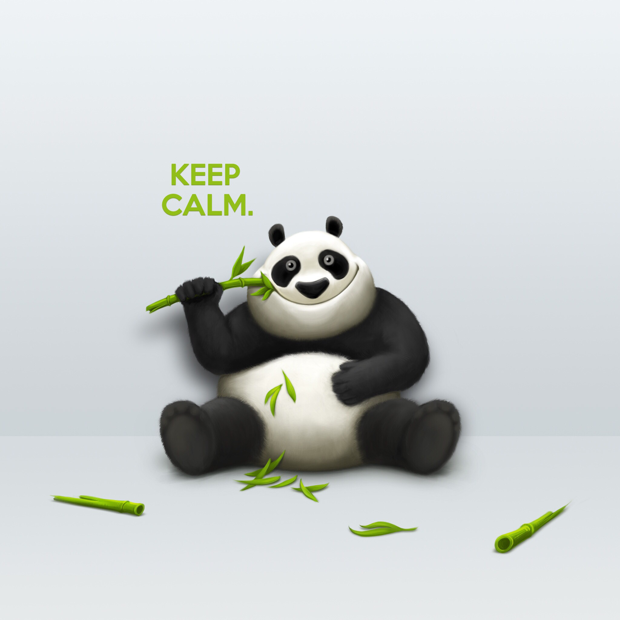 2048x2048 Don't stress,calm down and for this Mr. Panda is the best