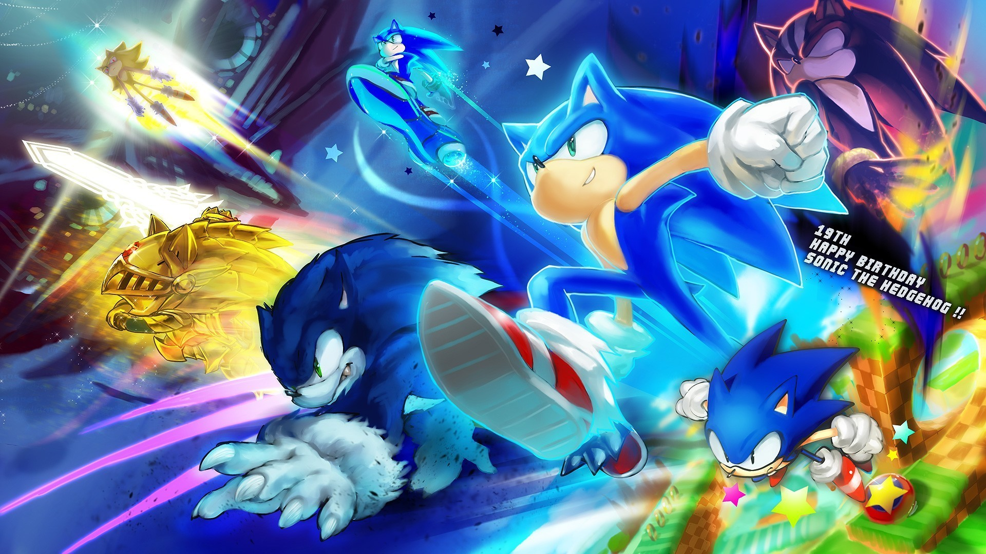 1920x1080 1920x1200 Wallpapers For > Super Sonic And Shadow Wallpaper