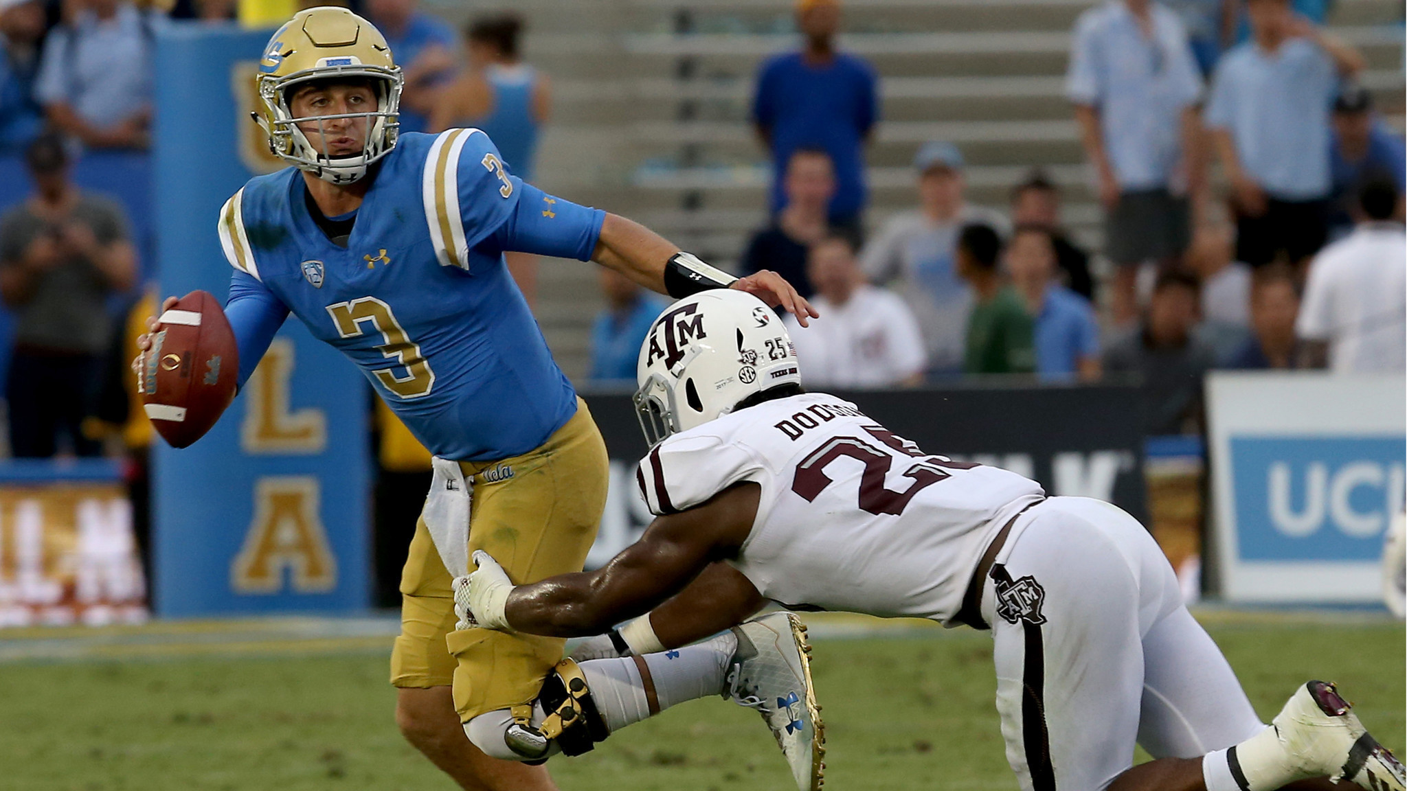 2048x1152 UCLA quarterback Josh Rosen lives up to the hype with a fast start - LA  Times