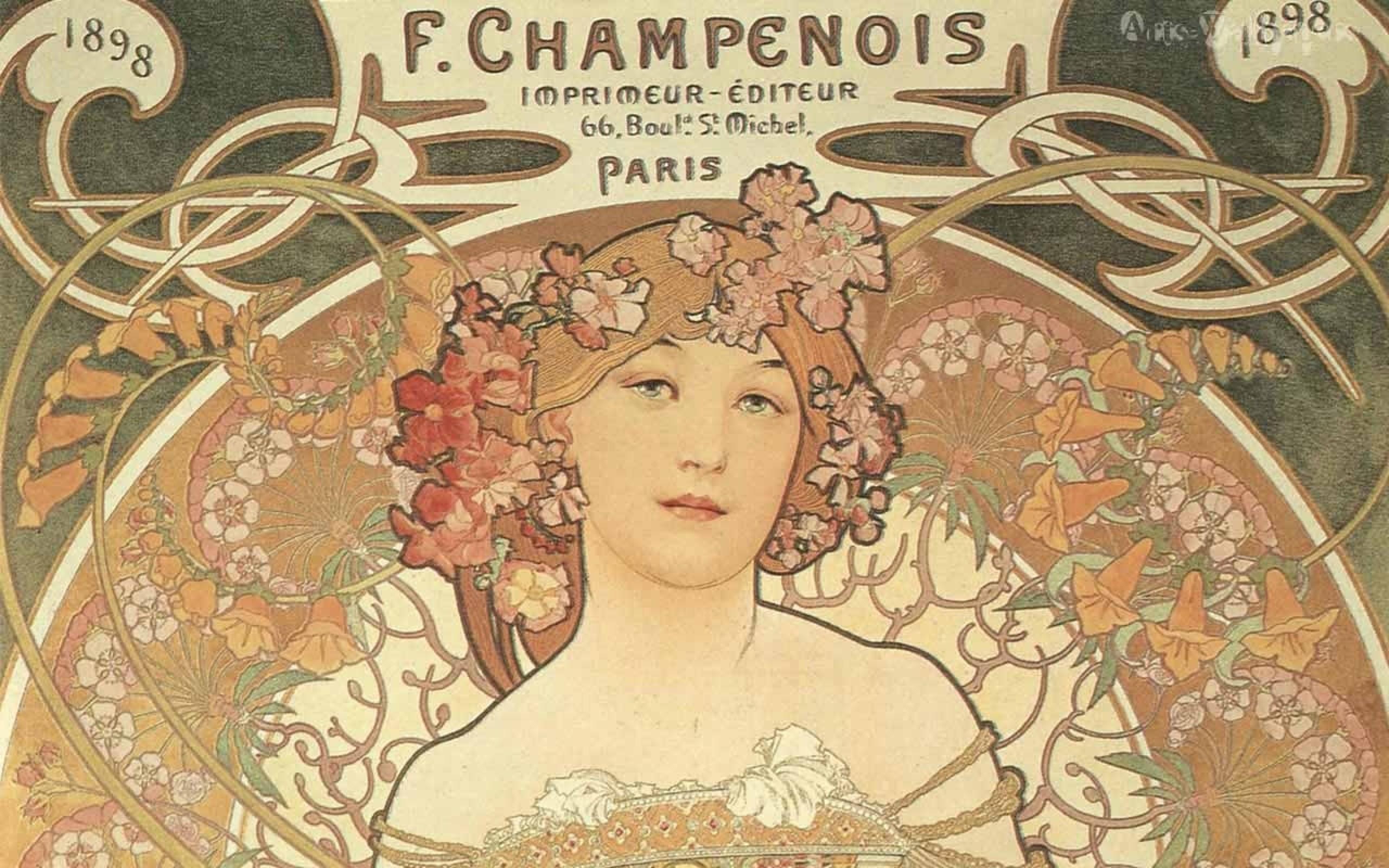 Art Nouveau Desktop Wallpaper 47 Images
