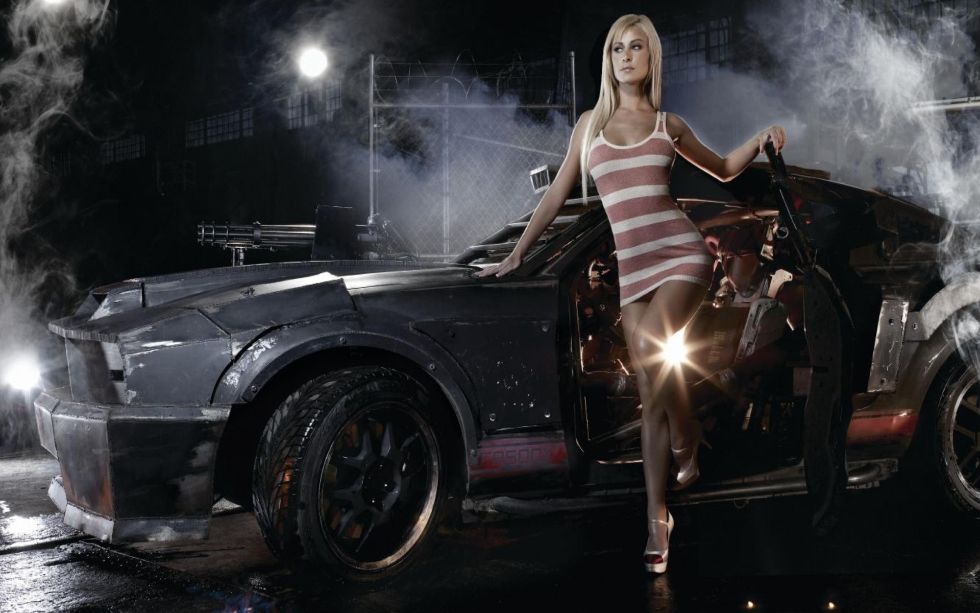1920x1200 Girl car hd wallpaper