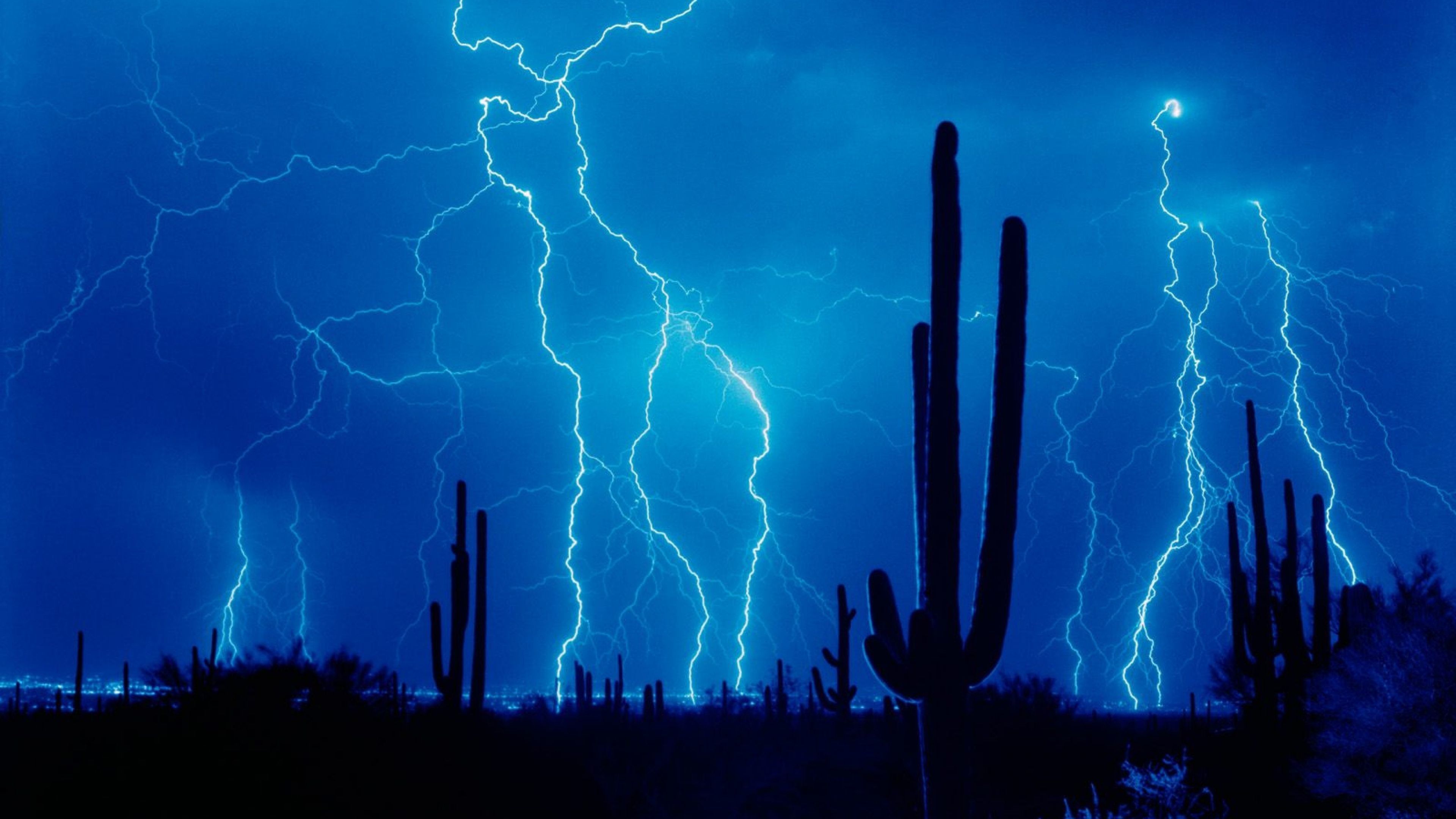 3840x2160 Download Wallpaper  Lightning, Thunder-storm, Elements .