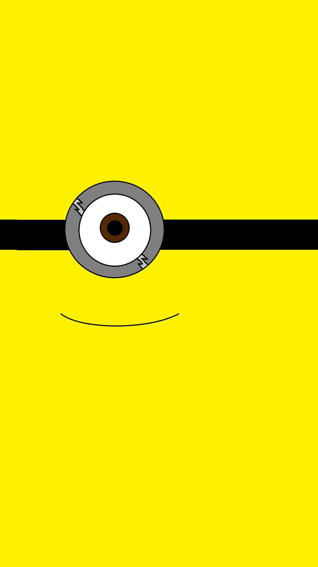 1080x1920 2014 Halloween all yellow one big eye minion iphone 6 plus wallpaper -  Despicable Me iphone