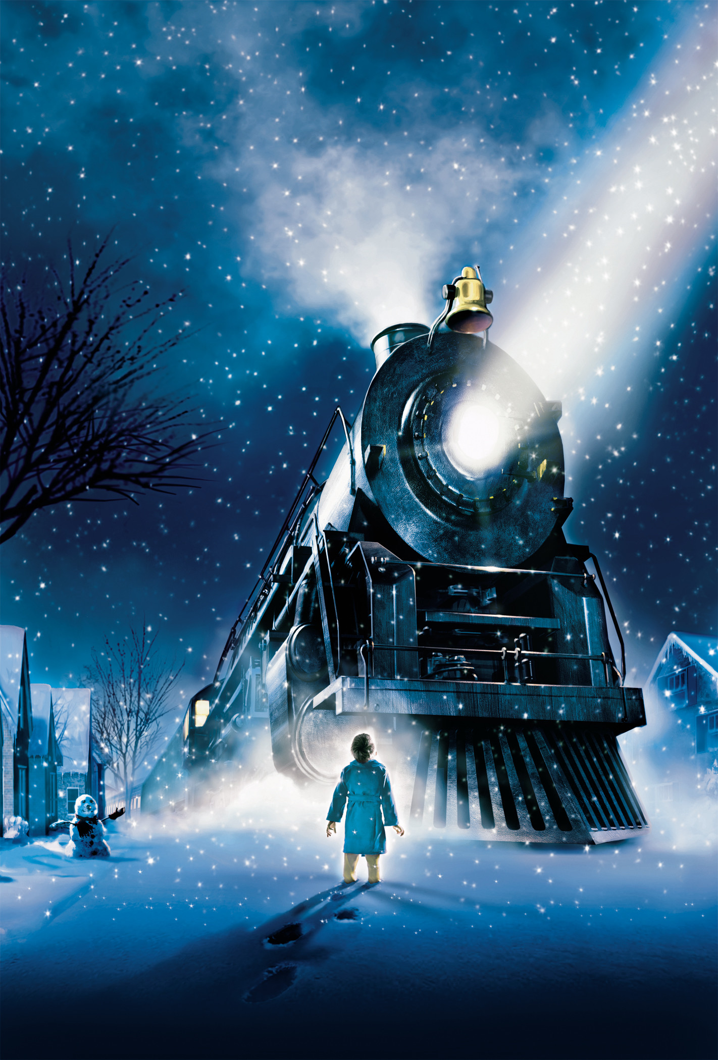1422x2100 The Polar Express by Chris van Allsburg digital, contrapicado, luces frías  y colores fríos