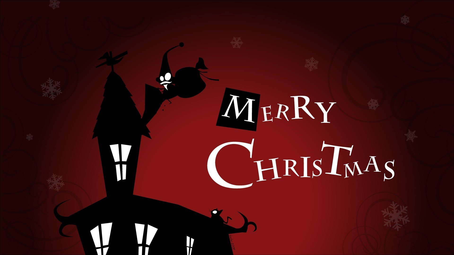 1920x1080 Merry Christmas Cartoon Images HD Wallpapers